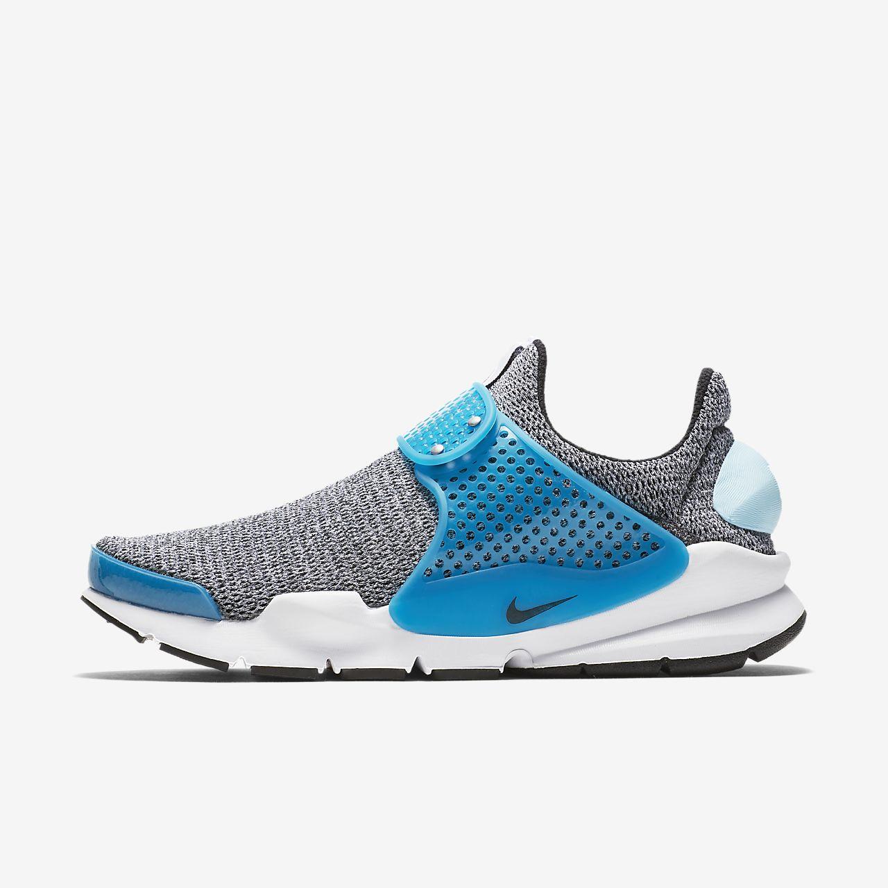 Nike Sock Dart SE Womens 862412-002 Blue Lagoon Black White Running Shoes