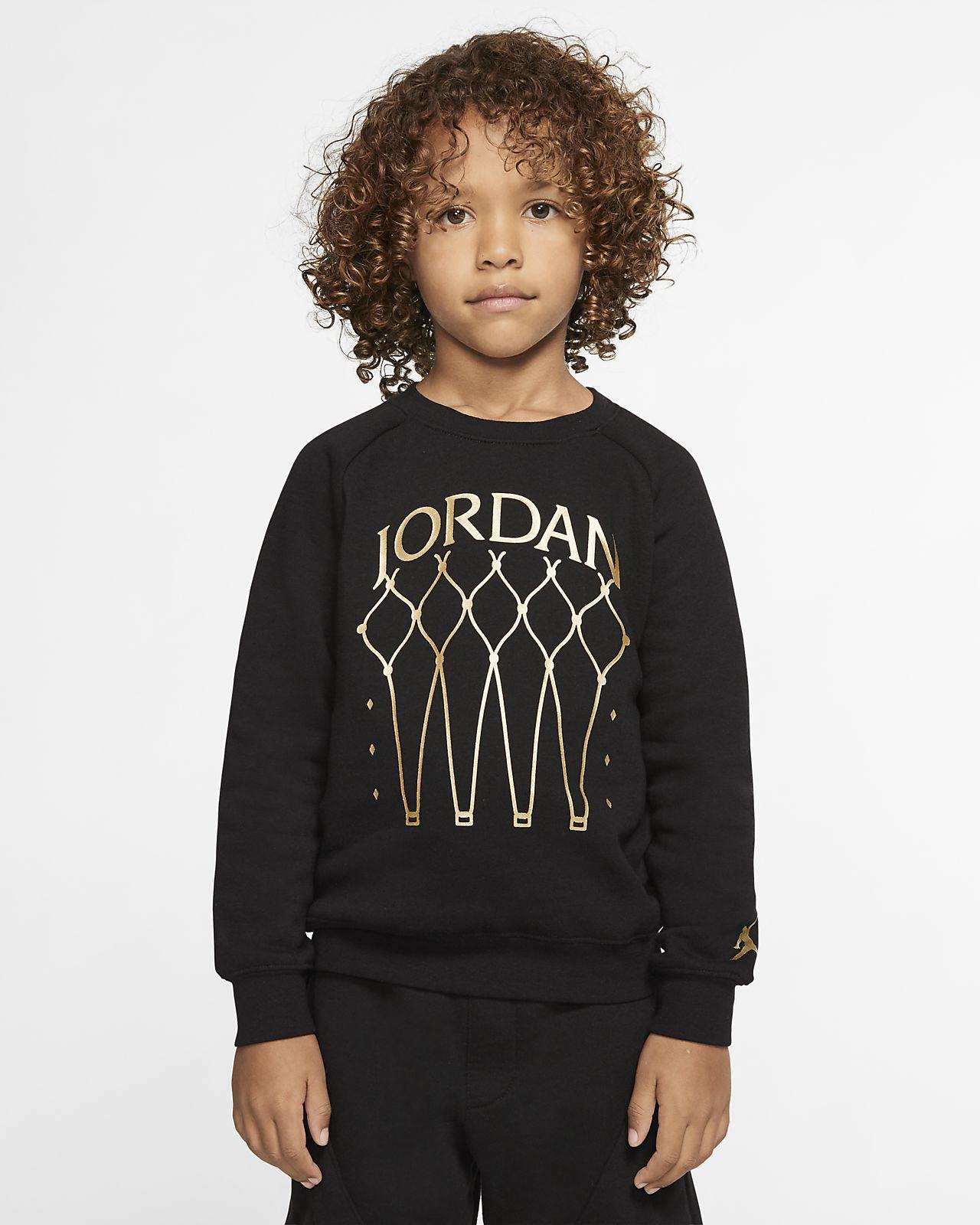 Fleecetröja med rund hals Jordan Jumpman för barn