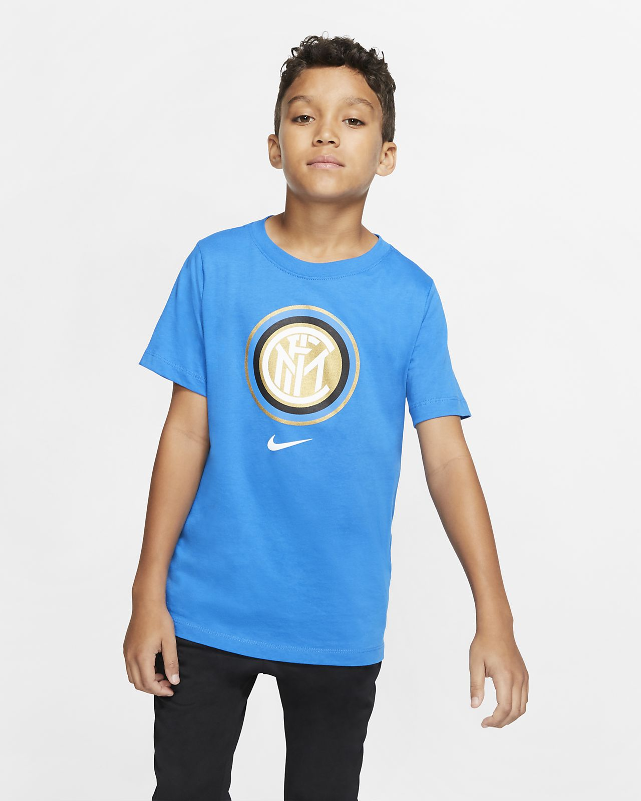 Tee-shirt de football Inter Milan pour Enfant plus âgé