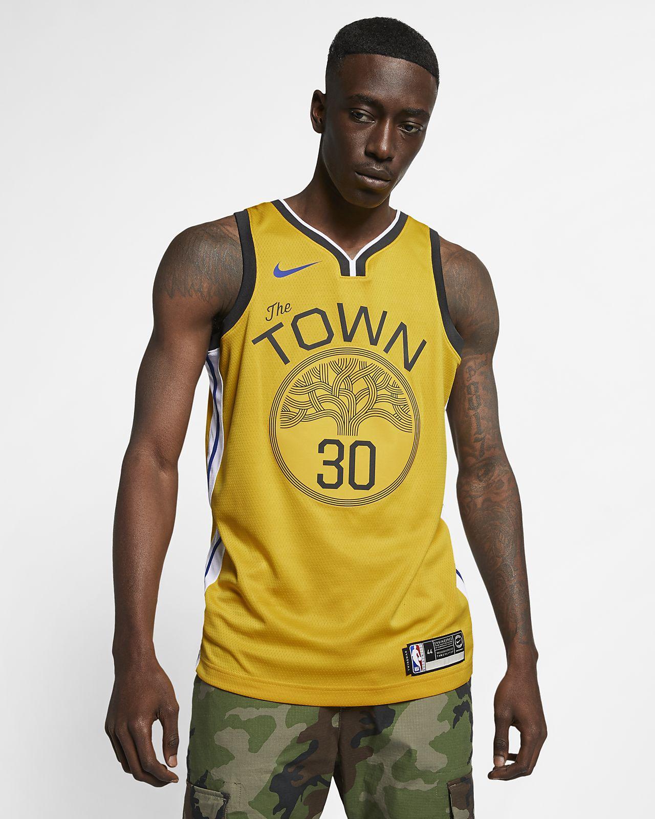 Stephen Curry Earned City Edition Swingman (Golden State Warriors) Nike NBA connected jersey voor heren