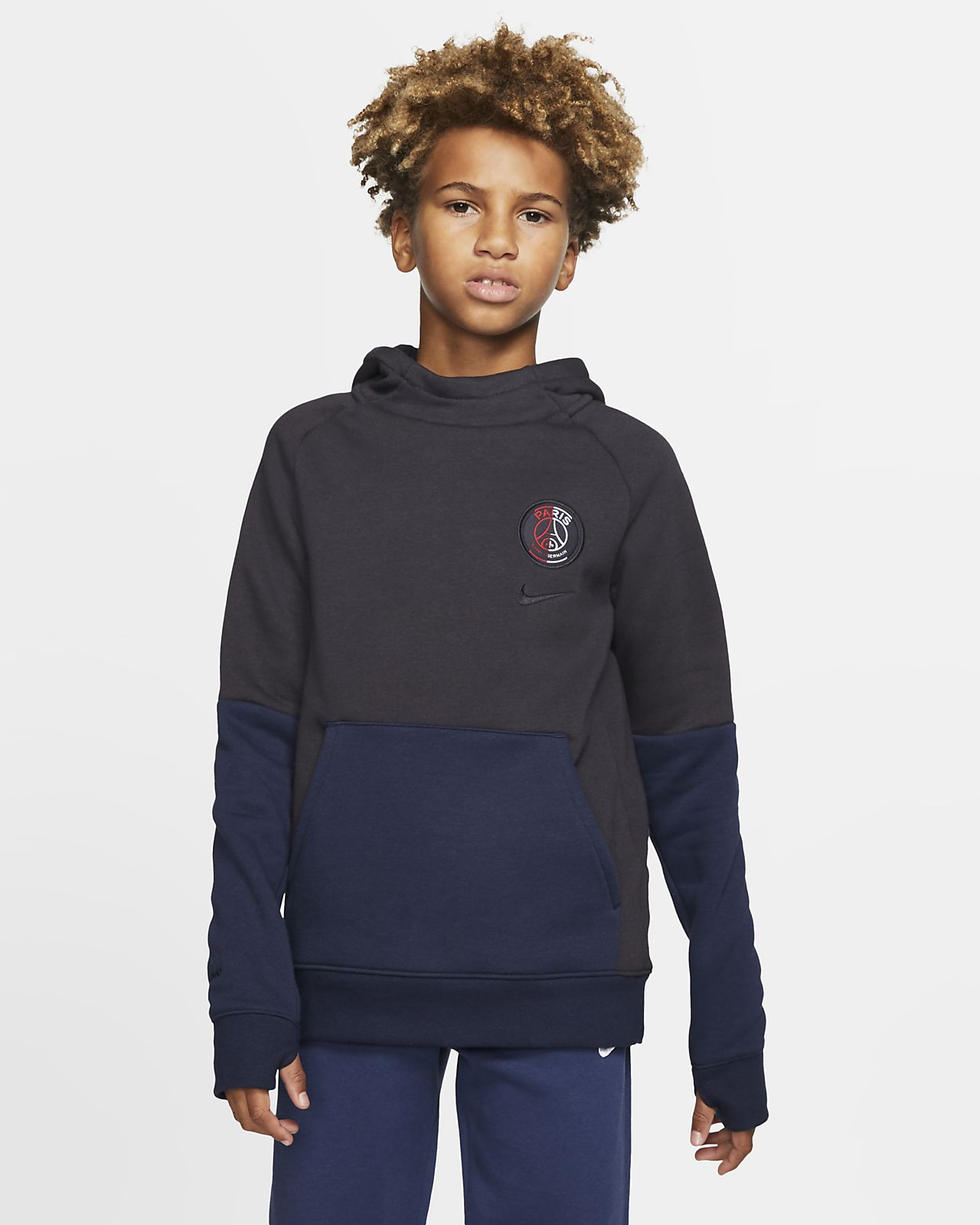 Paris Saint-Germain Big Kids' Fleece Pullover Hoodie