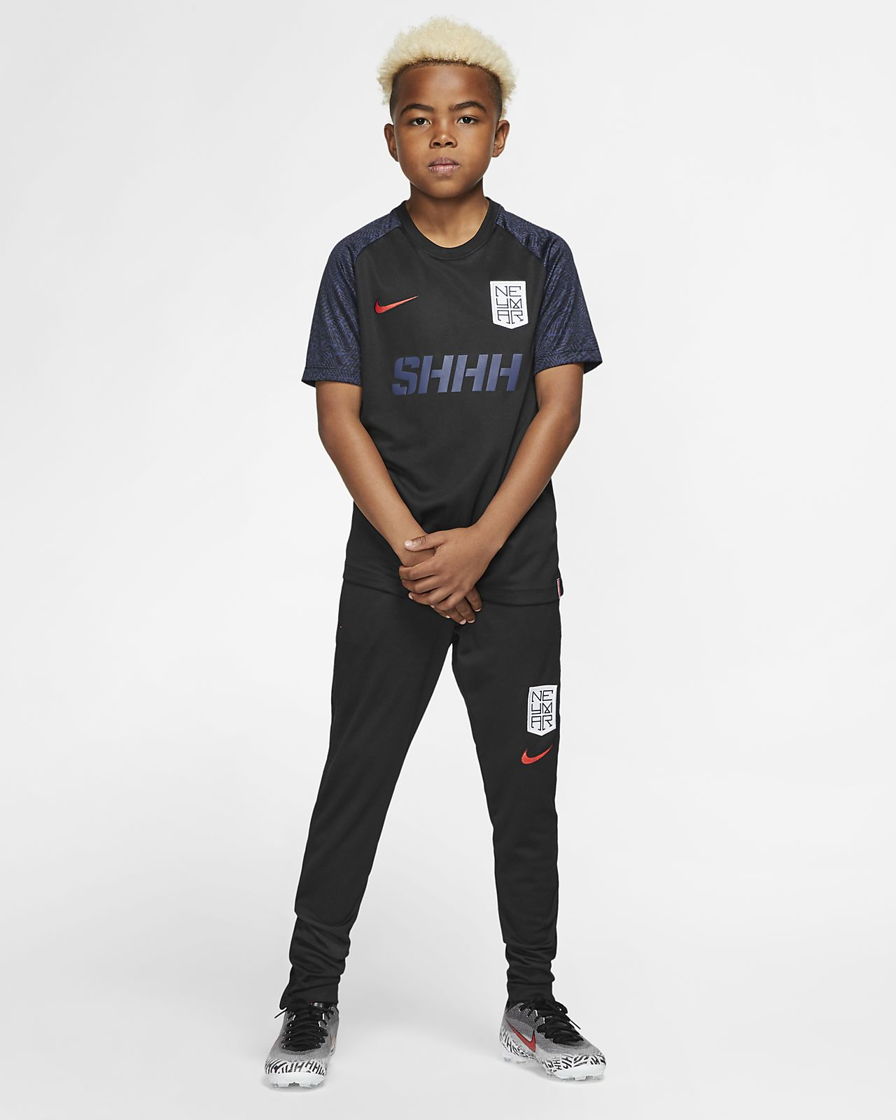 Nike Dri FIT Neymar Jr. Older Kids' Short Sleeve Football Top