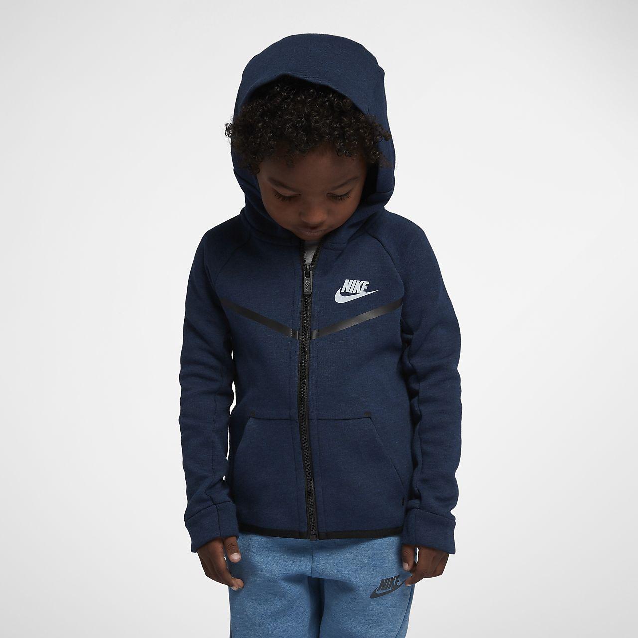 Mikina s kapucí Nike Sportswear Tech Fleece pro malé děti (chlapce)