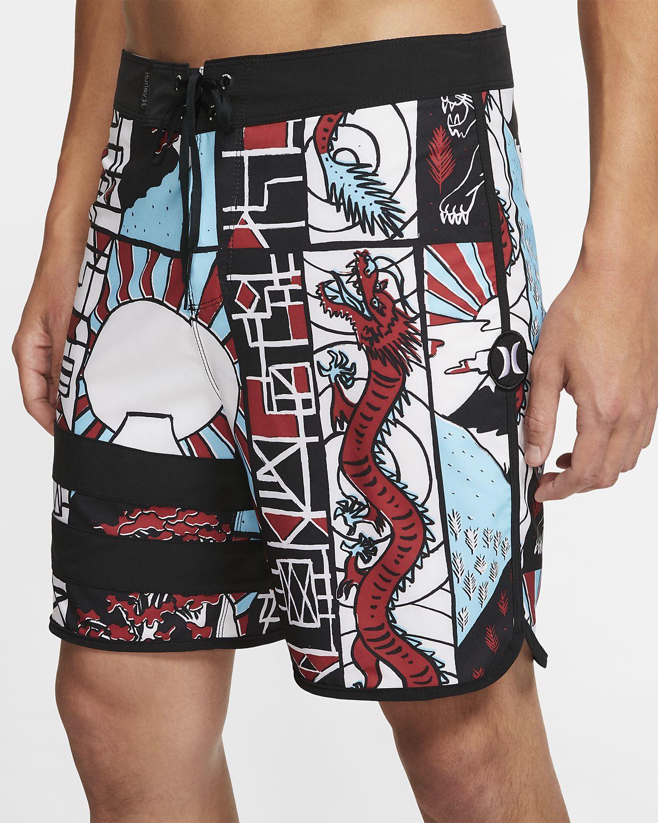 Hurley Phantom Block Party Yabai Herren-Boardshorts (ca. 46 cm)