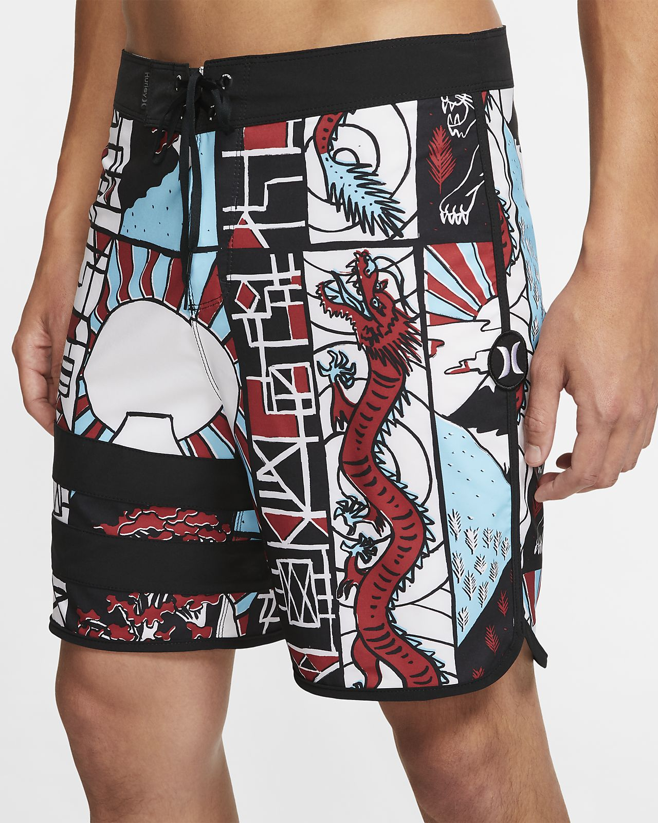 Shorts de playa de 46 cm para hombre Hurley Phantom Block Party Yabai
