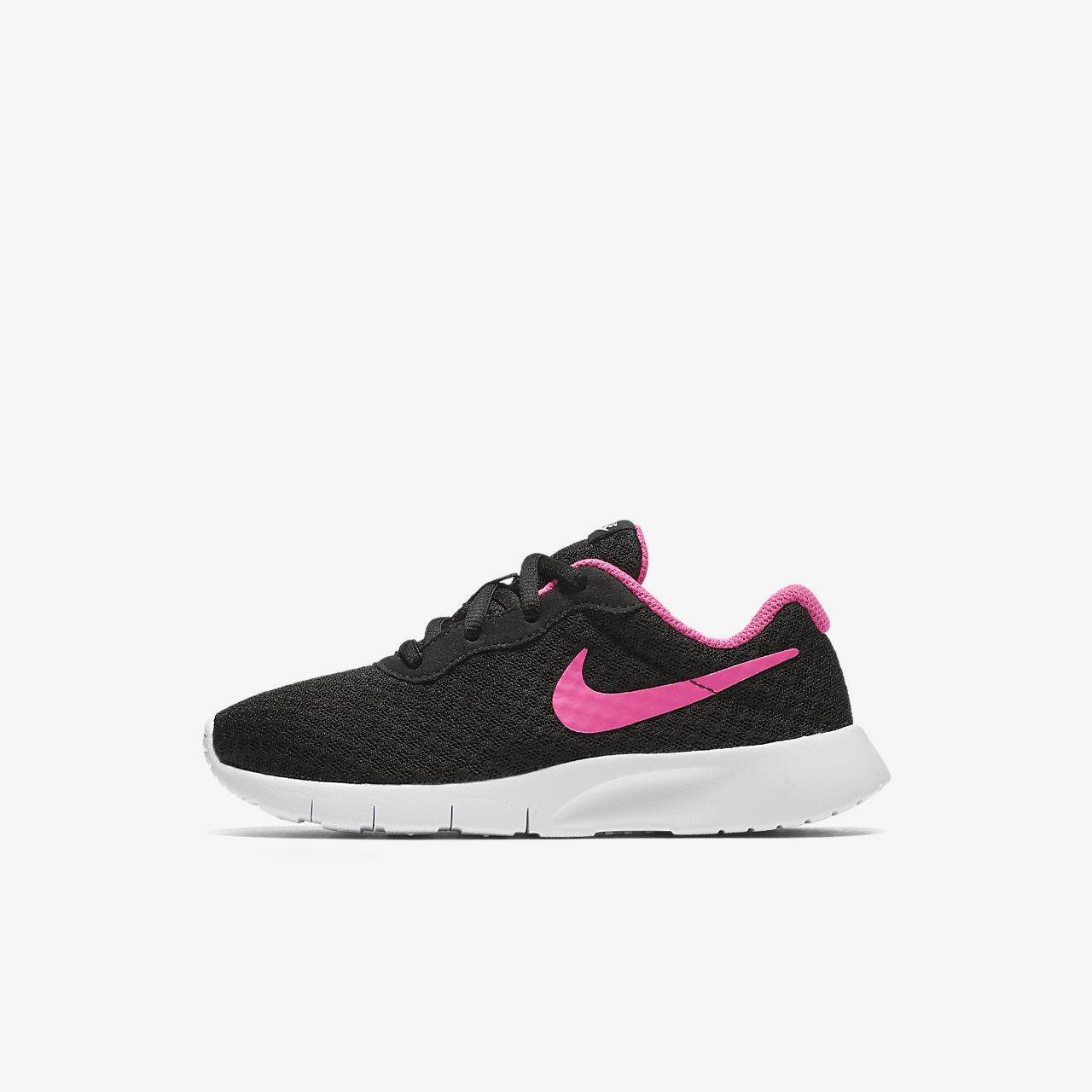 Nike Tanjun Racer Girls Running Shoes Black/White/Pink qW7883R
