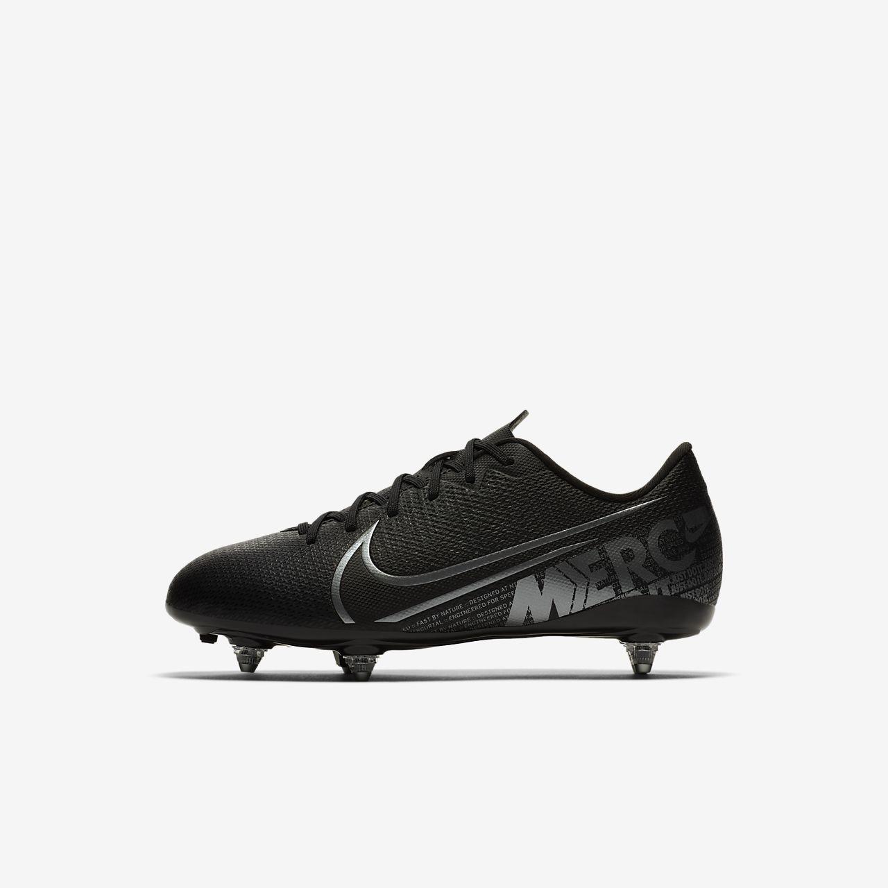 Nike Jr. Mercurial Vapor 13 Academy SG-fodboldstøvle til børn (vådt græs)