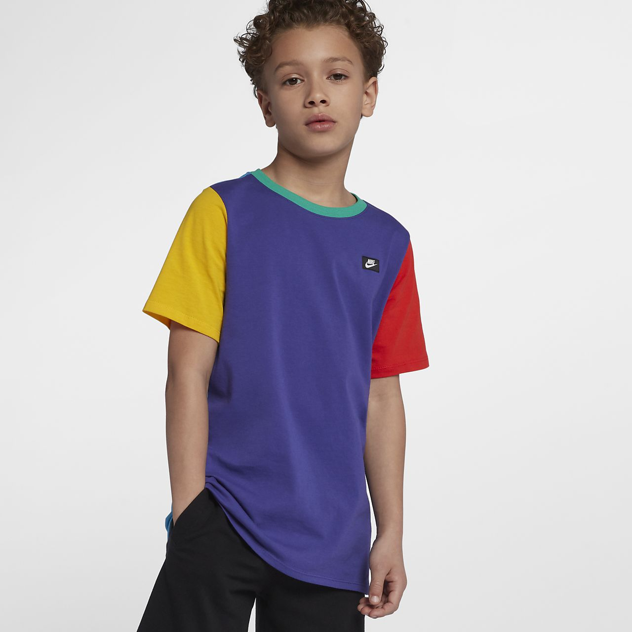 nike sportswear color block 90s big kids boys