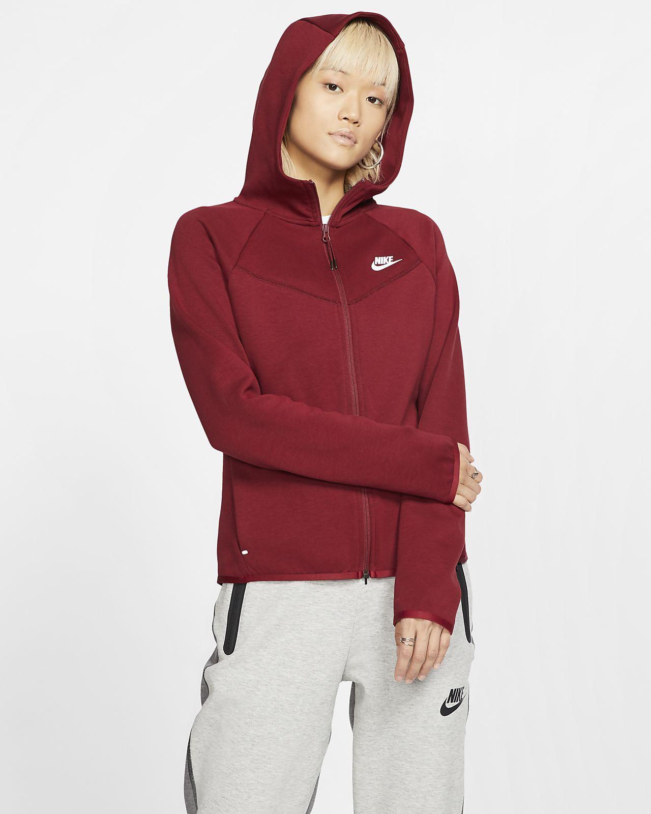 Γυναικεία μπλούζα με κουκούλα και φερμουάρ Nike Sportswear Windrunner Tech Fleece