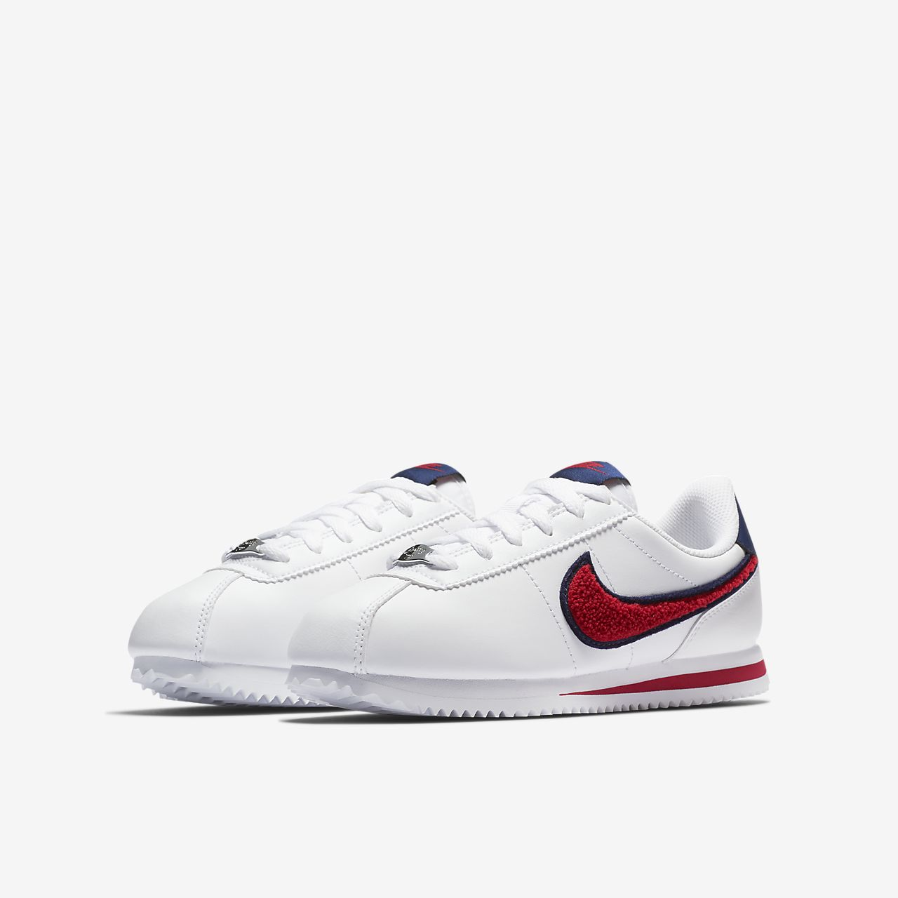 7680398e nike cortez white with blue