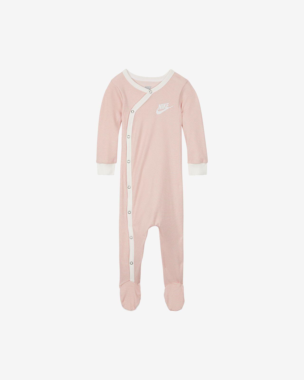 Nike Coverall met lange mouwen en voetjes voor baby's (0-9 maanden)