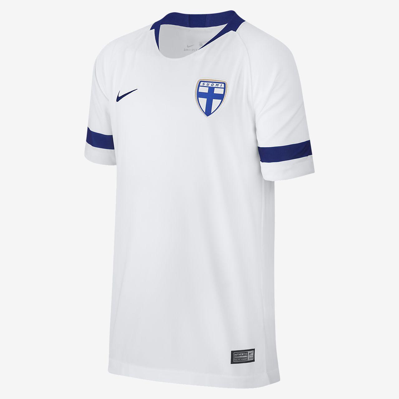 2018 Finnland Stadium Home Fußballtrikot für ältere Kinder