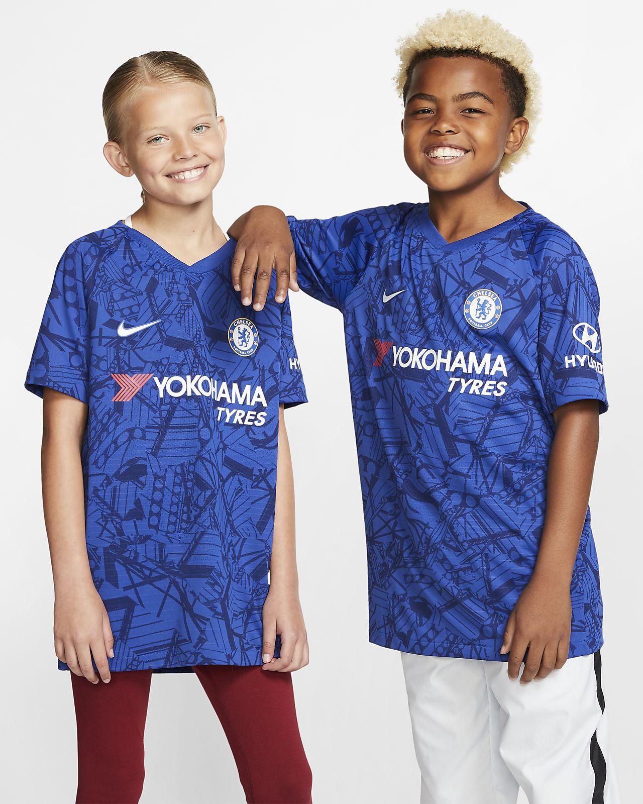 Camiseta de fútbol de local para niños talla grande Vapor Match del Chelsea FC 2019/20