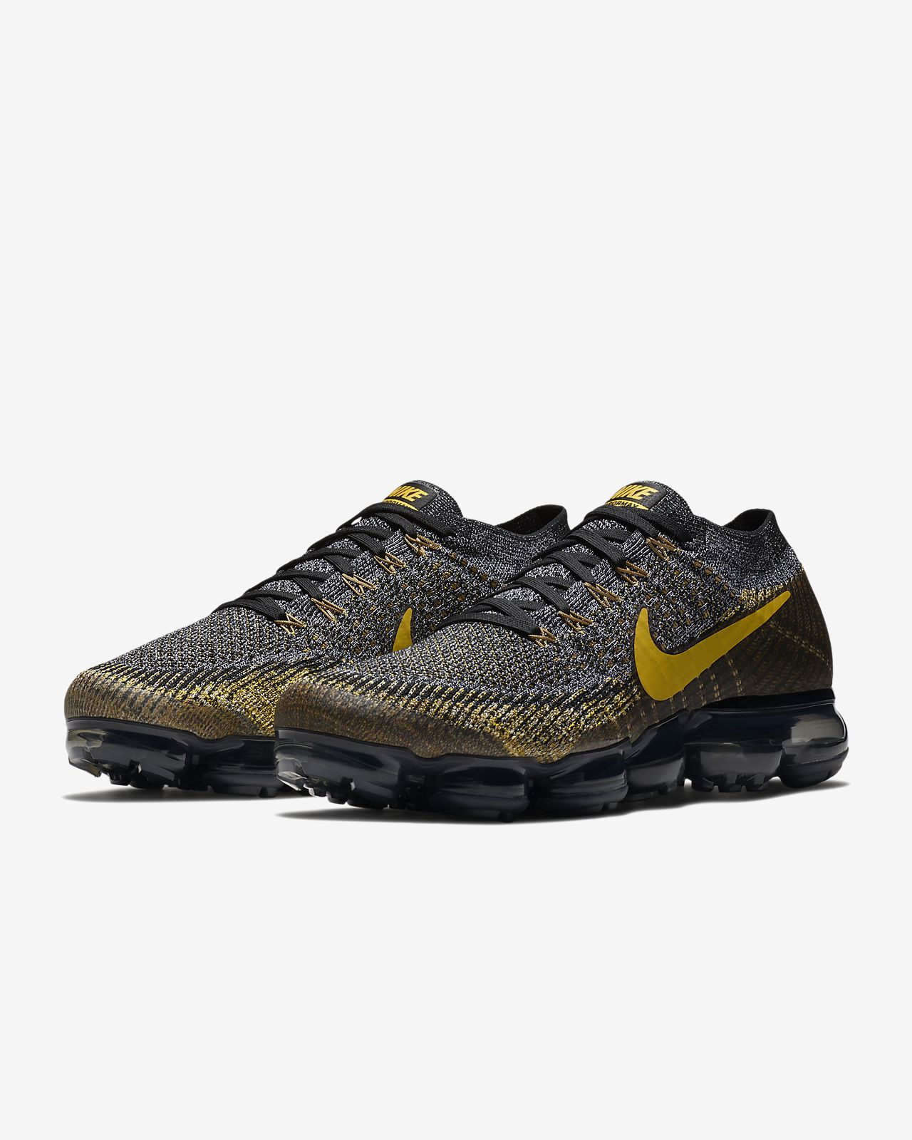 Purple And Yellow Nike Running Shoes