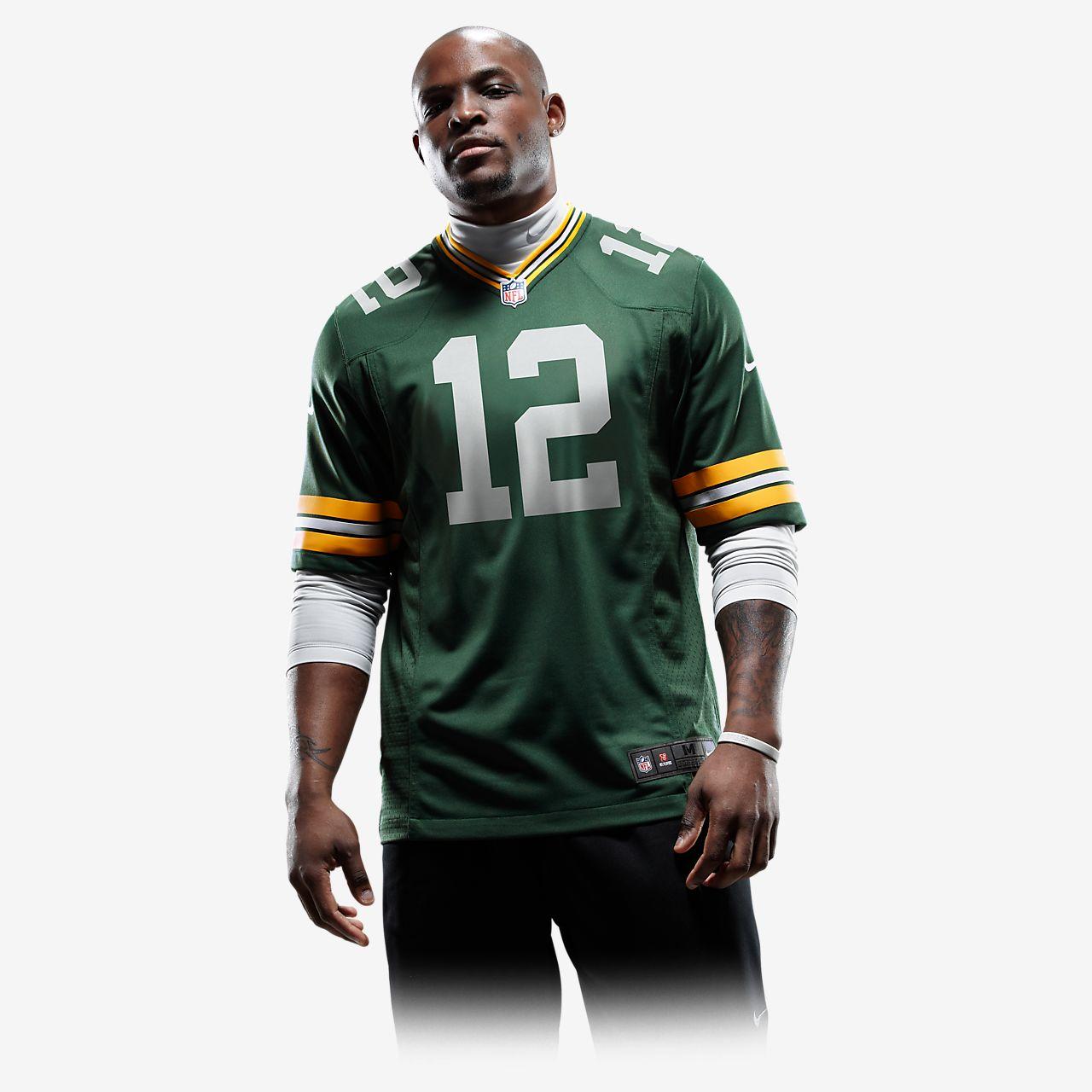 ... Camiseta oficial de fútbol americano de local para hombre de NFL Green  Bay Packers (Aaron 634a8e6be80