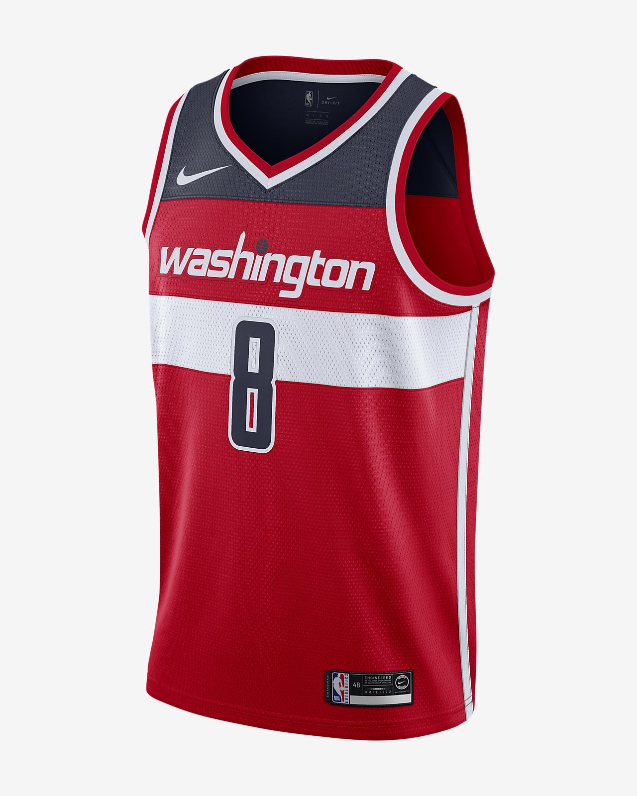 Rui Hachimura Wizards Icon Edition Nike NBA Swingman Trikot für Herren