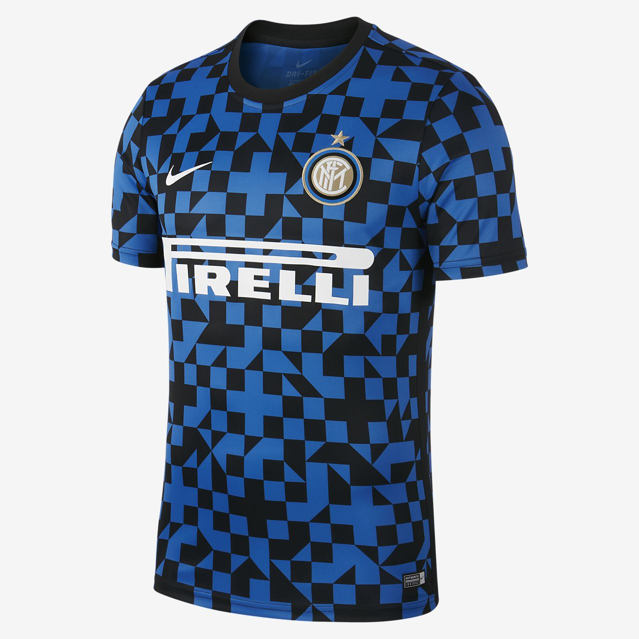 Inter Milan kortermet fotballoverdel til herre