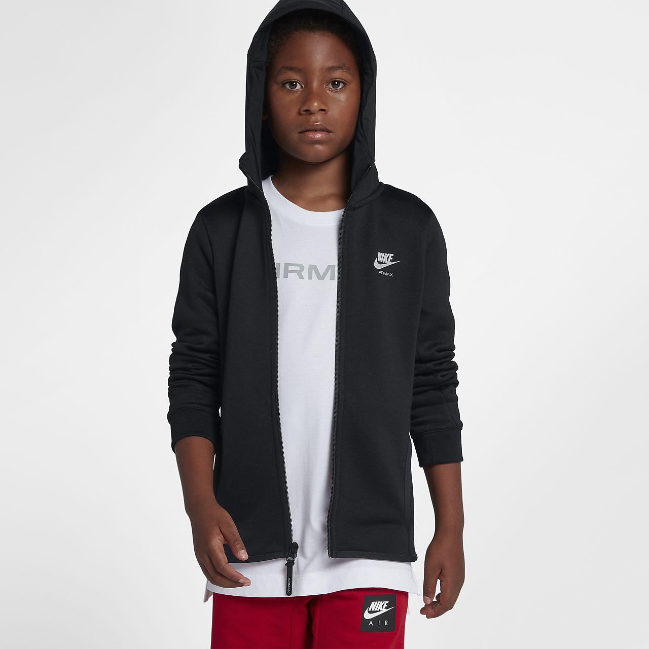 Nike Air Max Hoodie mit durchgehendem Reißverschluss für ältere Kinder  (Jungen) 4d3bb3a58b