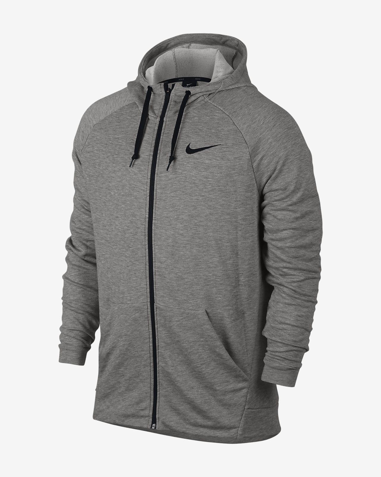 Męska bluza treningowa z kapturem i zamkiem na całej długości Nike Dri-FIT