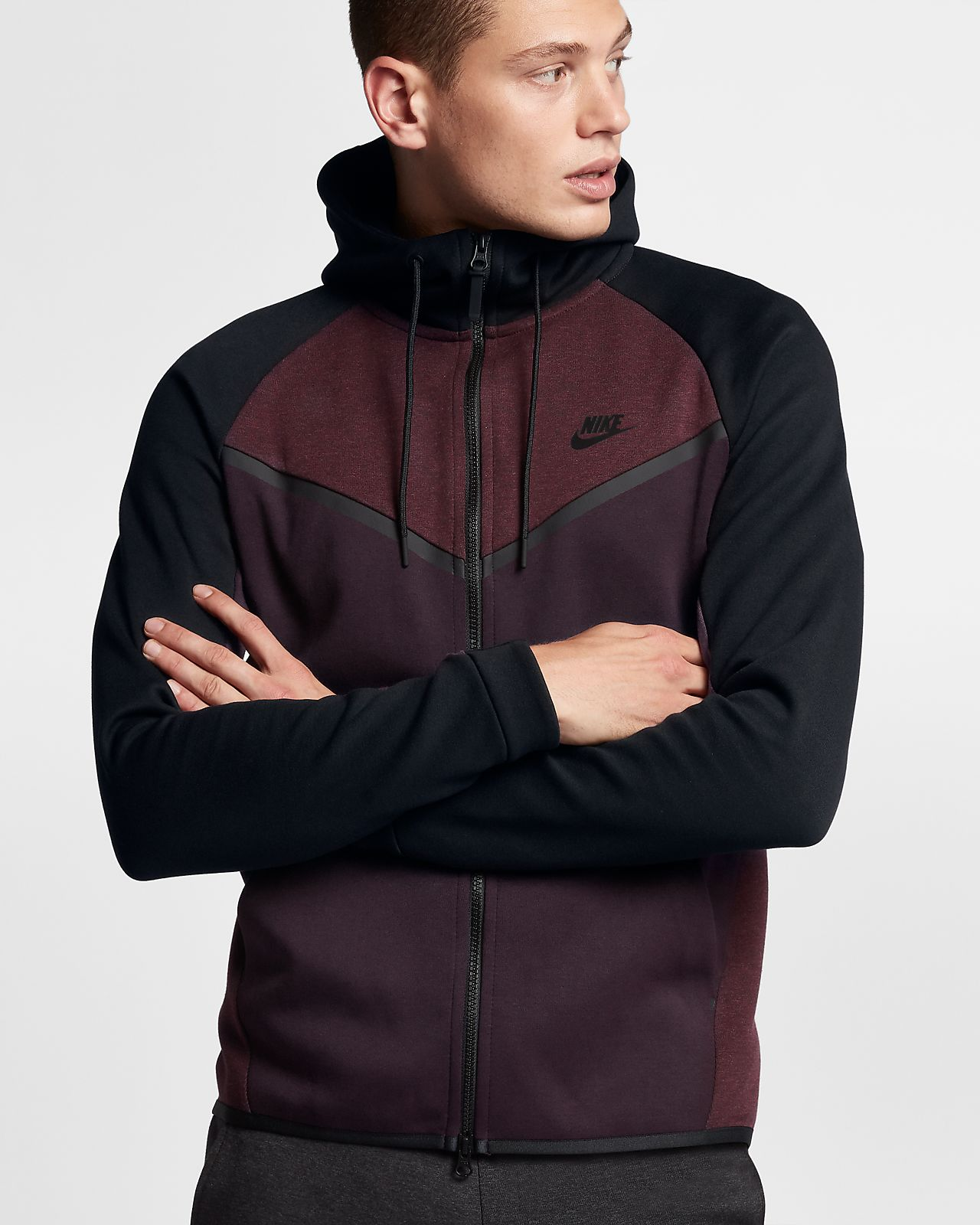 nike sportswear tech fleece windrunner herren hoodie mit. Black Bedroom Furniture Sets. Home Design Ideas
