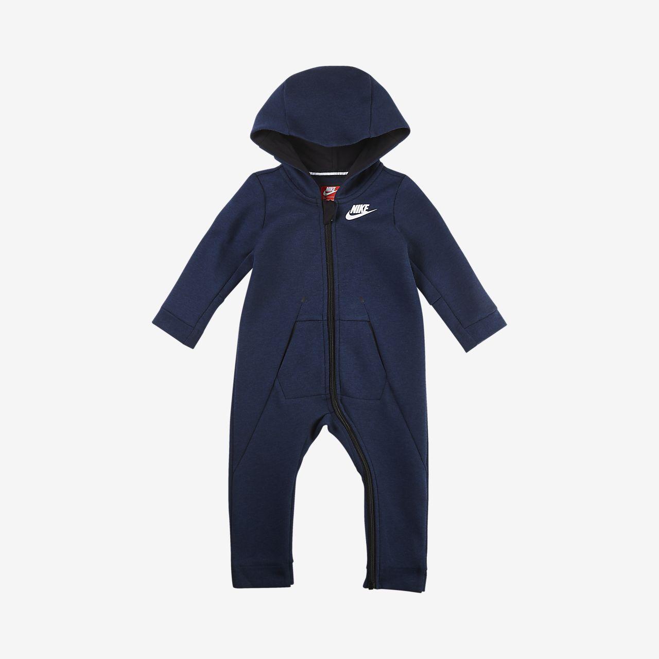 Nike Sportswear Tech Fleece Overall mit Kapuze für Babys (12–24 M)