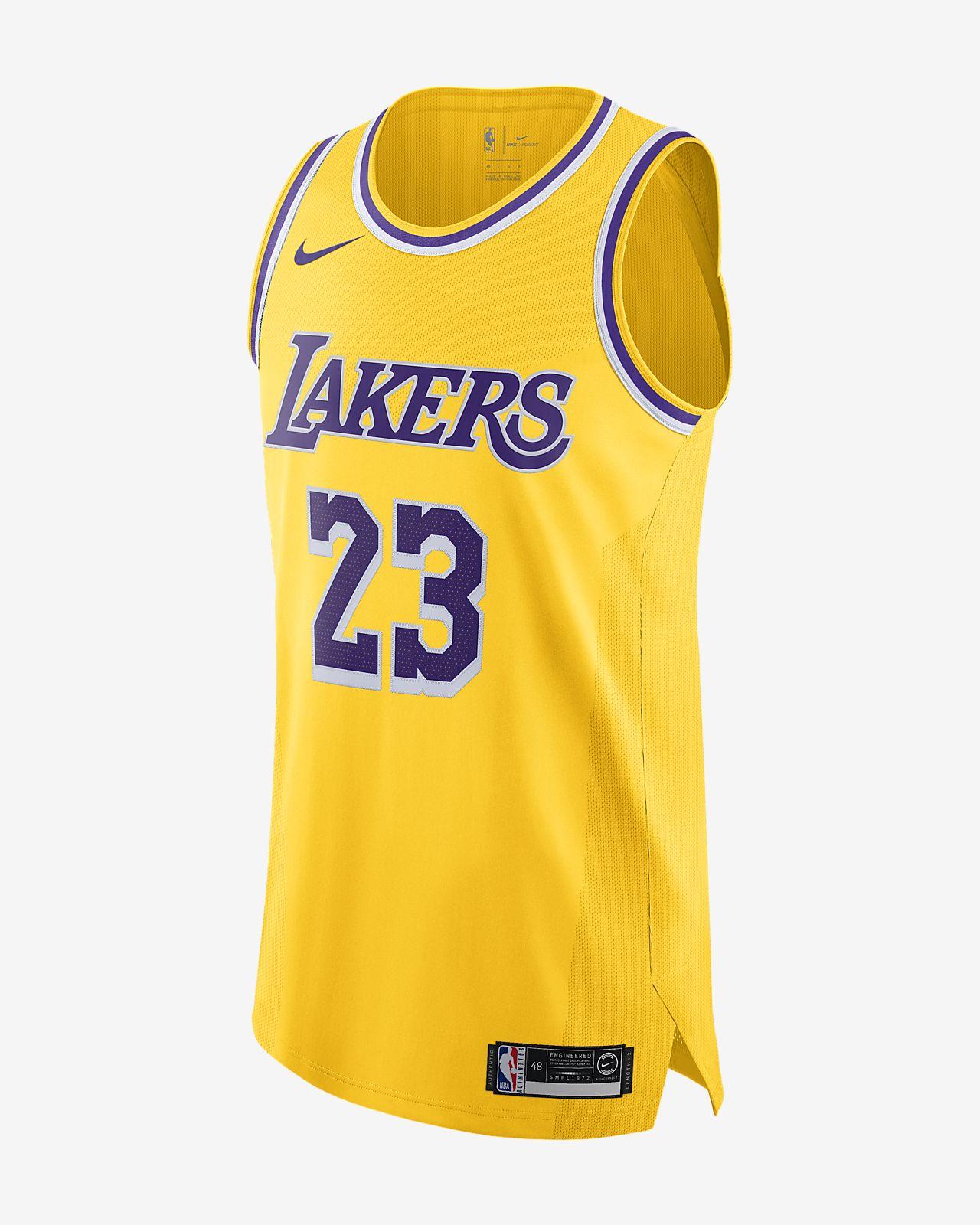 Maillot connecté Nike NBA LeBron James Icon Edition Authentic (Los Angeles Lakers) pour Homme