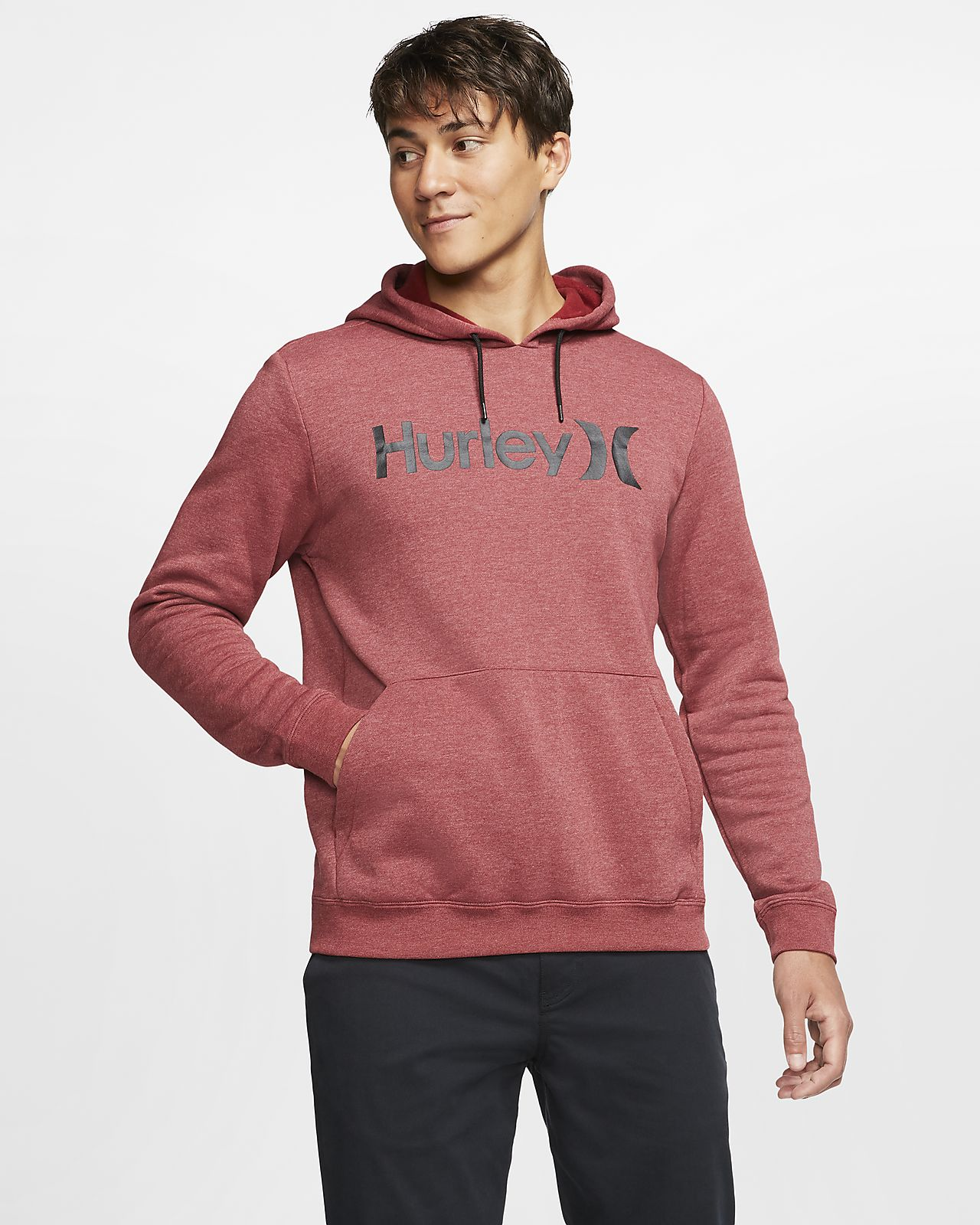 Hurley Surf Check One And Only Men's Fleece Pullover Hoodie