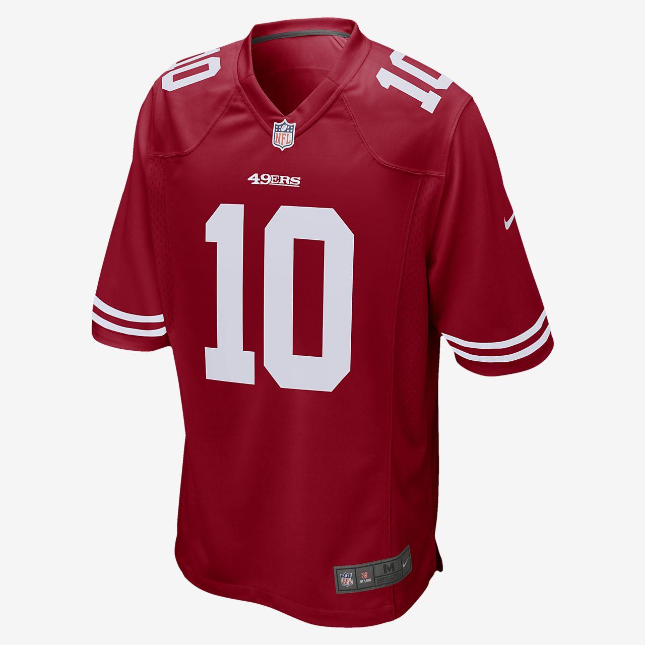 NFL San Francisco 49ers (Jimmy Garoppolo) American-Football-Trikot für Herren