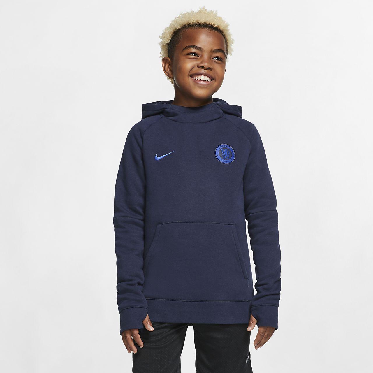 Chelsea FC-pullover-hættetrøje i fleece til store børn