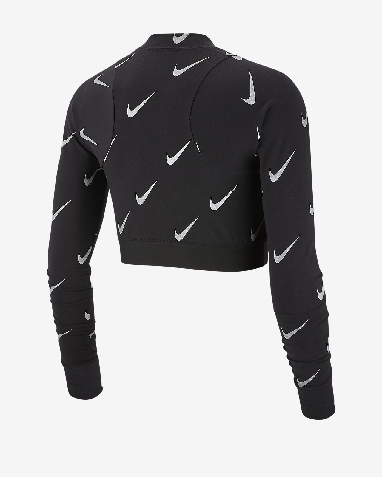 1c2786e3e564 Nike Sportswear Women s Metallic Long-Sleeve Crop Top. Nike.com AE