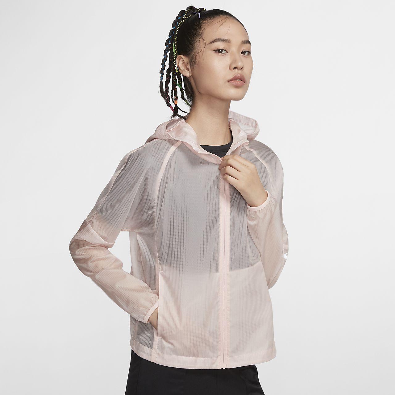 Nike 女子连帽跑步夹克