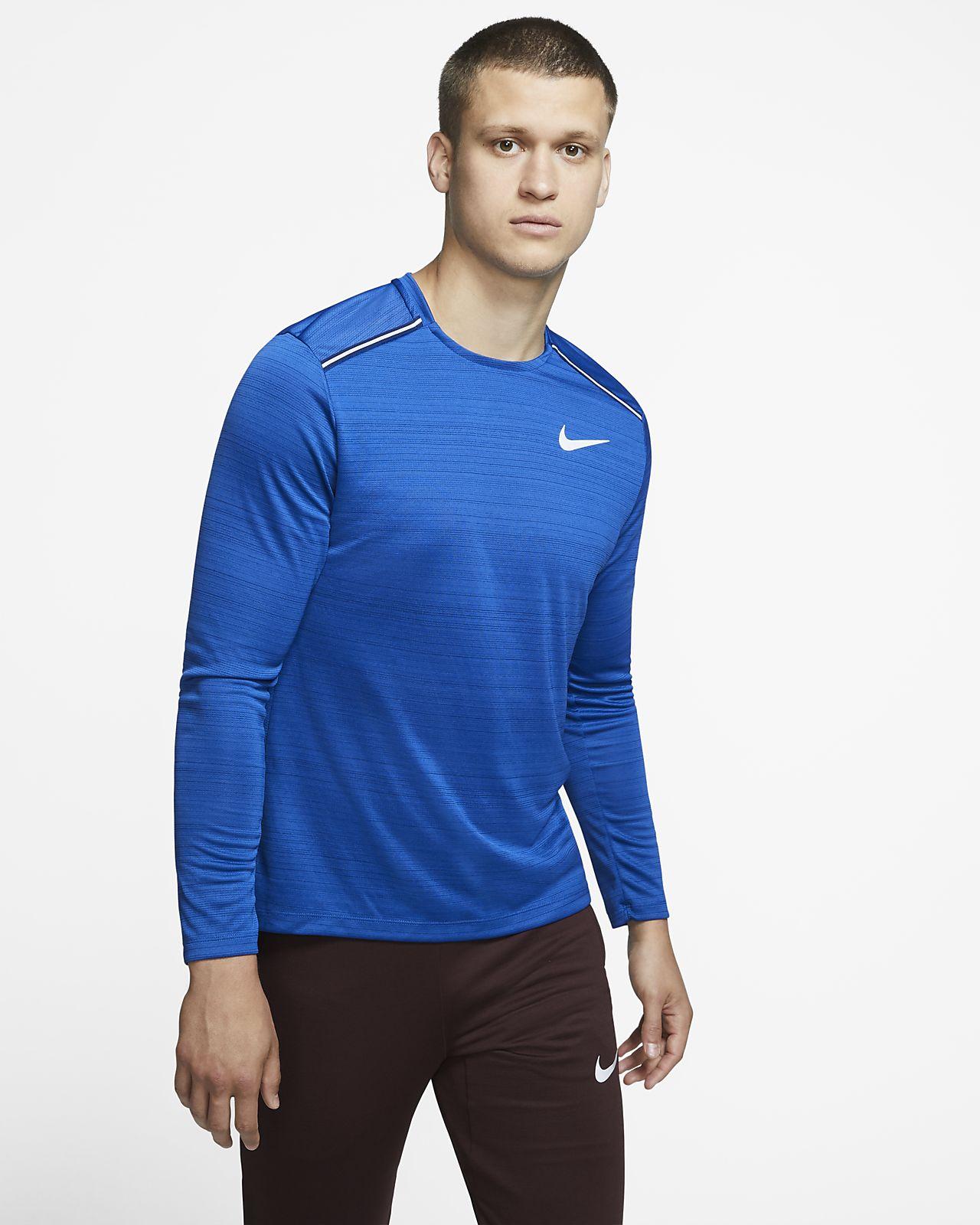 Męska koszulka z długim rękawem do biegania Nike Dri-FIT Miler