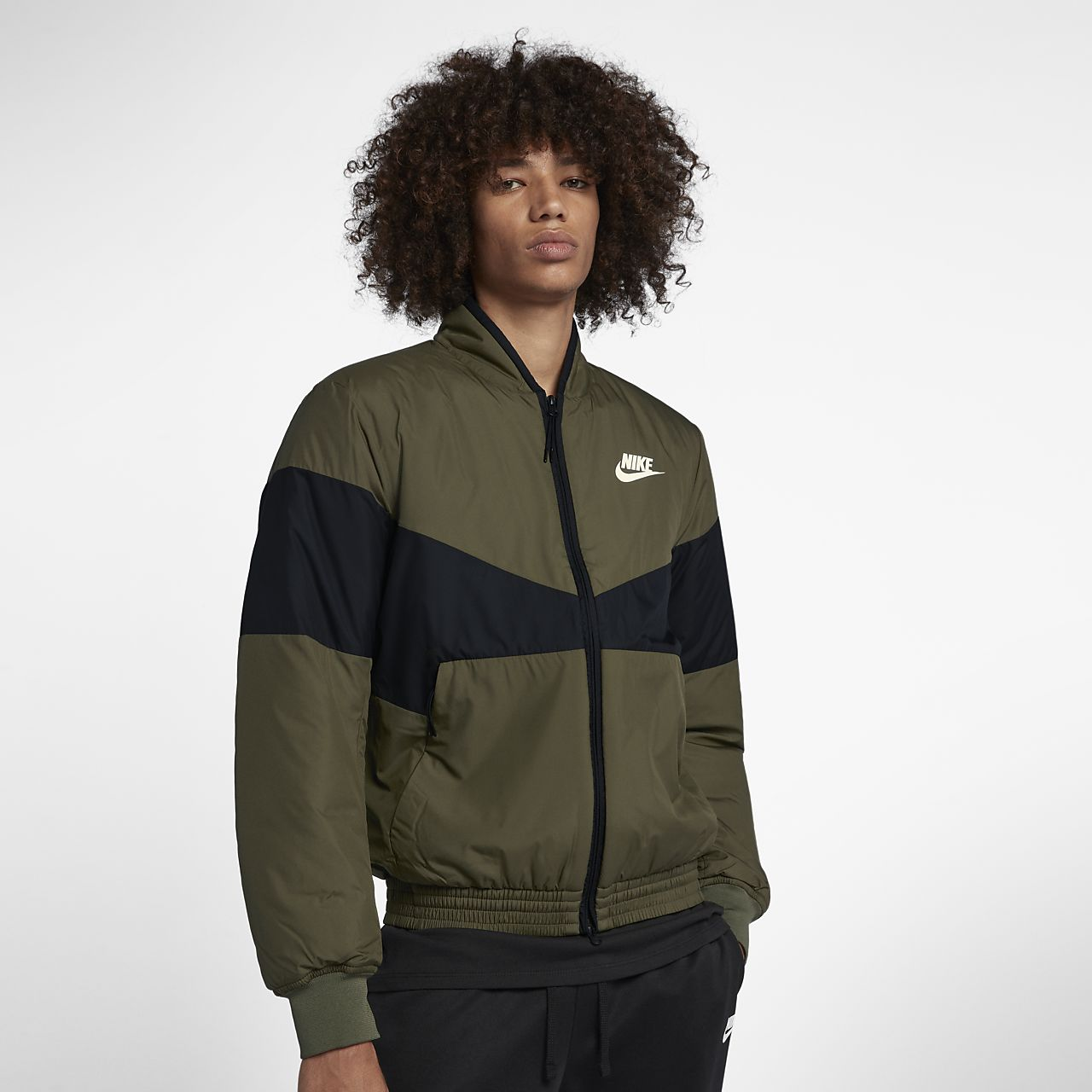98f69b941a1a Nike Sportswear Synthetic-Fill Men s Graphic Bomber Jacket. Nike.com GB