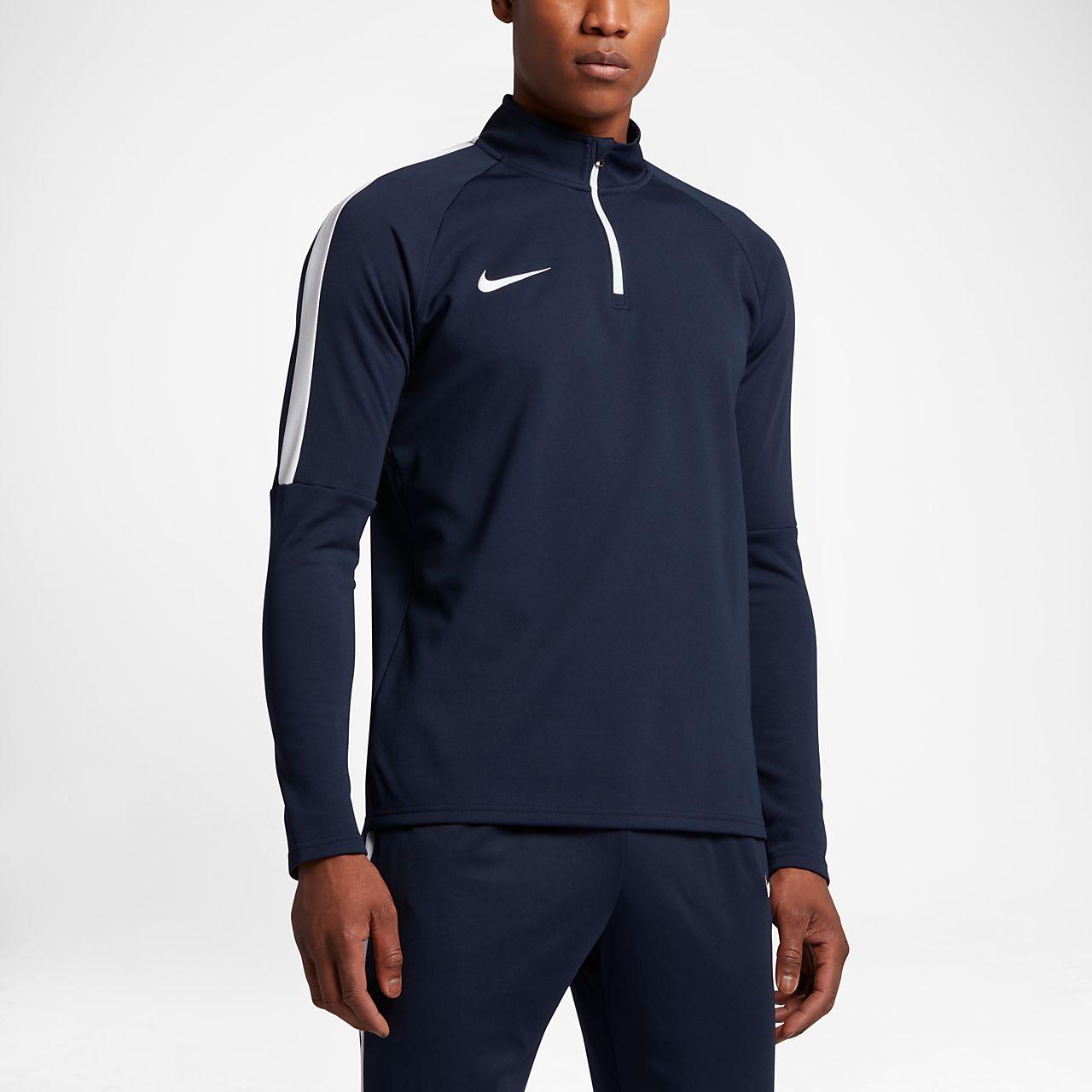 Nike Dri-FIT Academy Camiseta de fútbol de entrenamiento con cremallera de  1 4 f28d4f129af5a