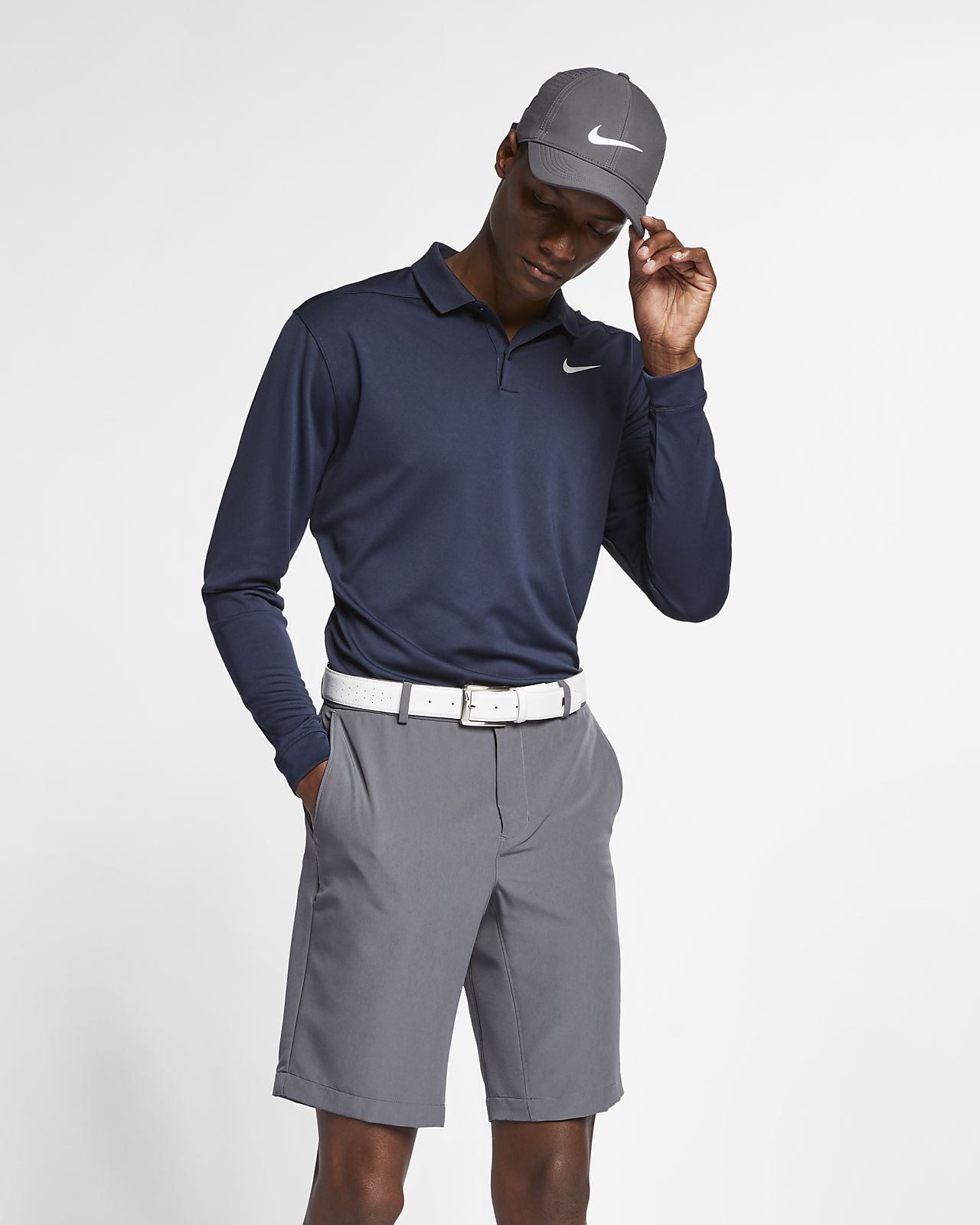 Nike Dri-FIT Victory Men s Long Sleeve Standard Fit Golf Polo. Nike.com a18e67157
