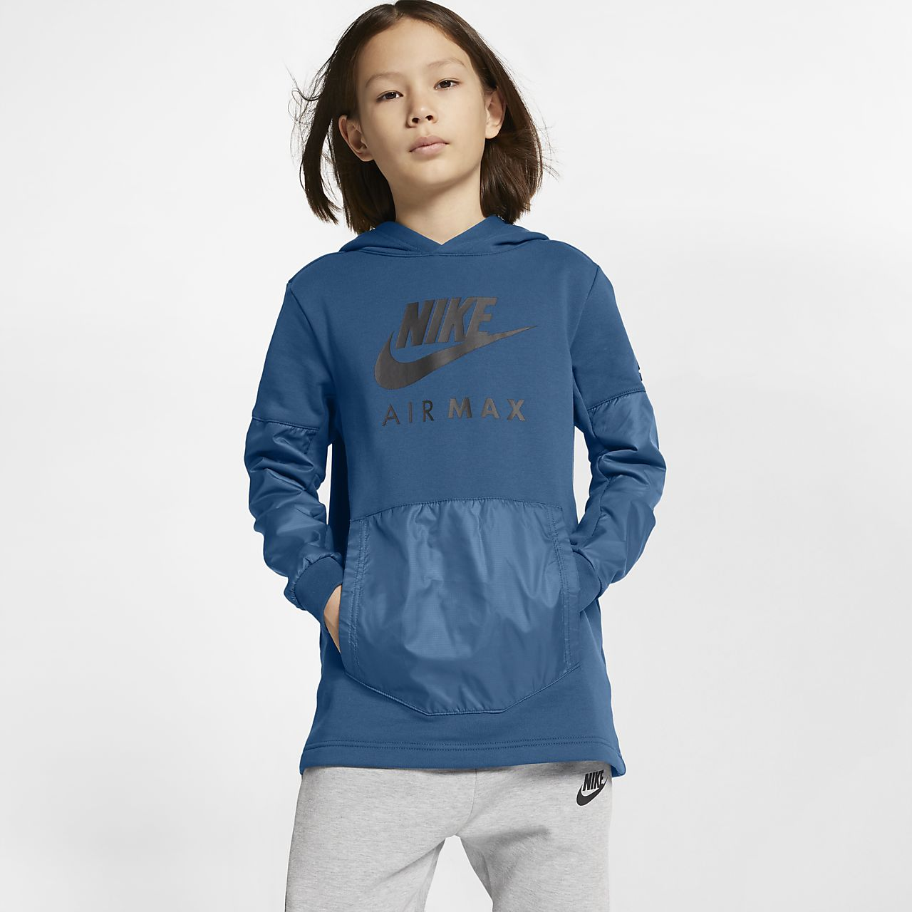 Nike Air Max Older Kids  (Boys ) Pullover Hoodie. Nike.com AE de6274d5b