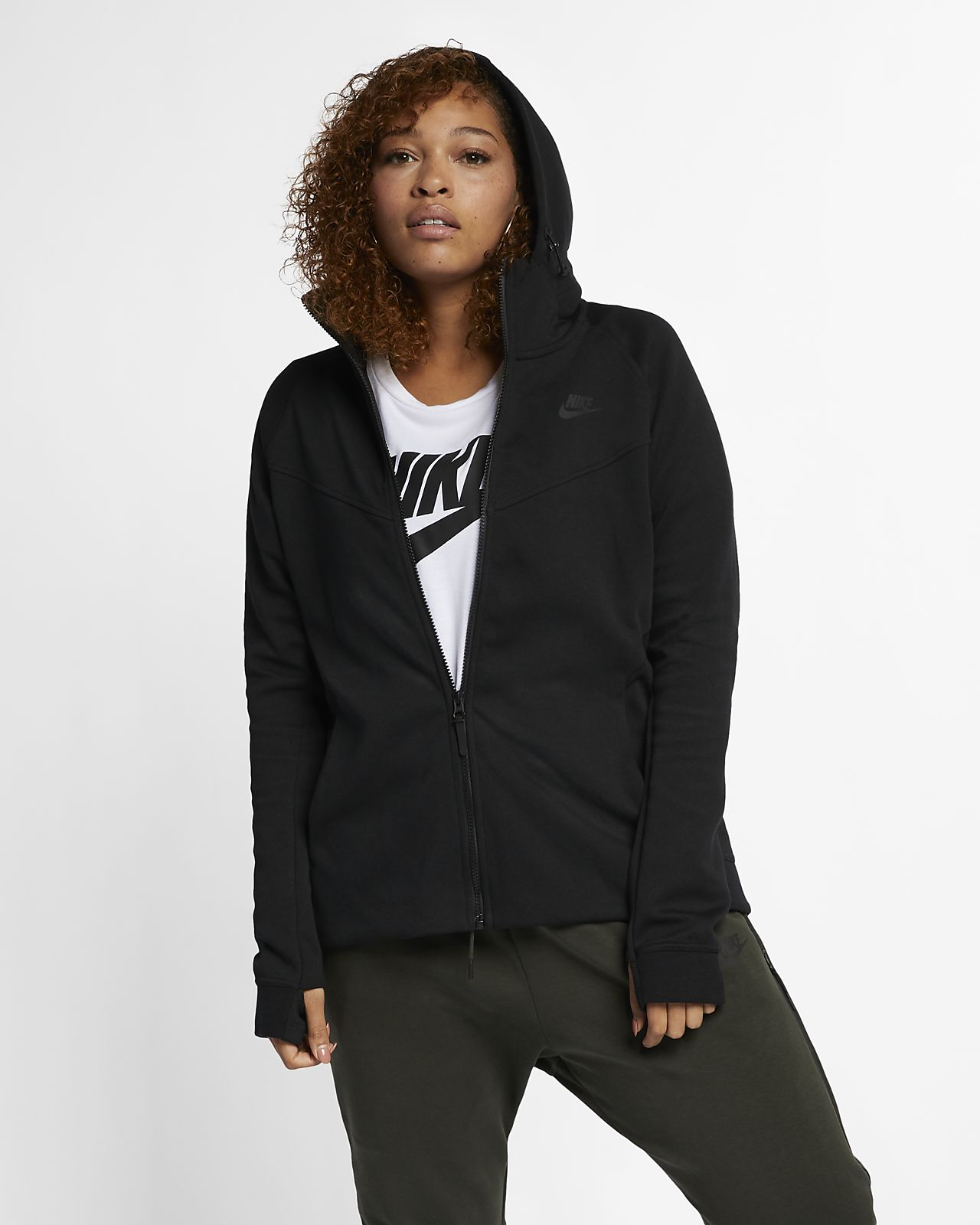 Nike Sportswear Tech Fleece (Plus Size) Women s Full-Zip Hoodie ... 7a993037bf