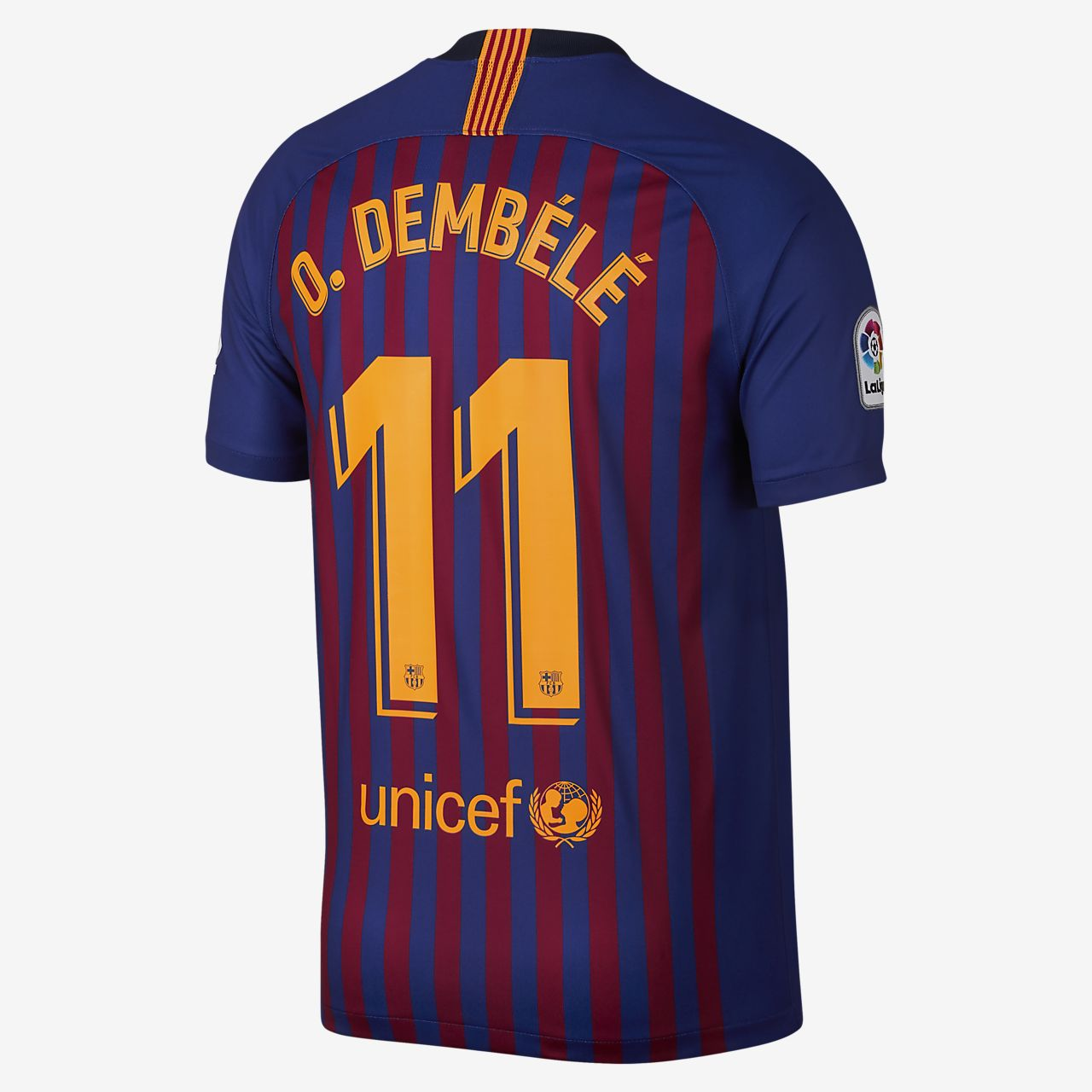 size 40 5831d c9051 2018/19 FC Barcelona Stadium Home (Ousmane Dembele) Men's Soccer Jersey