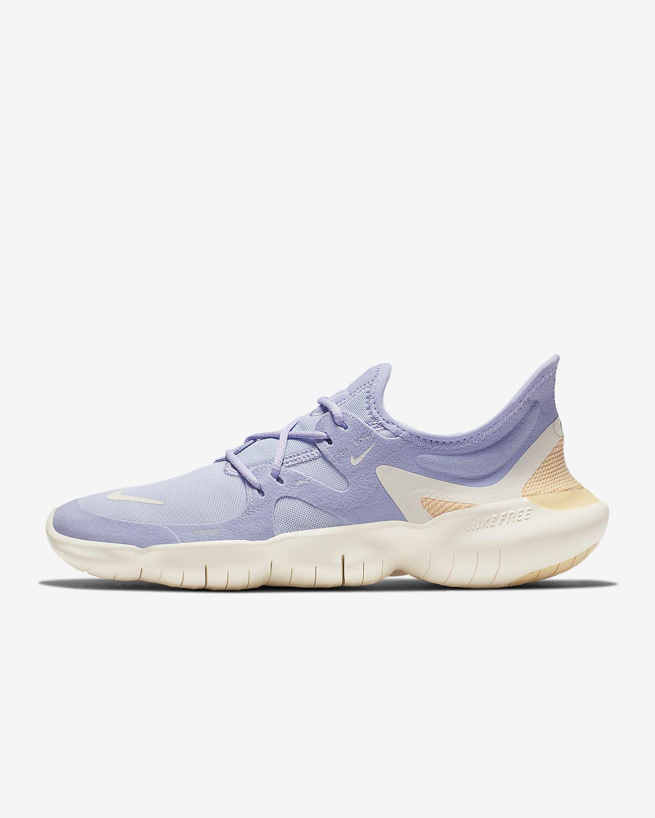 Nike Free Run 5.0 Damen Weiß Blau Lauf Schuhe Sneaker AQ1316