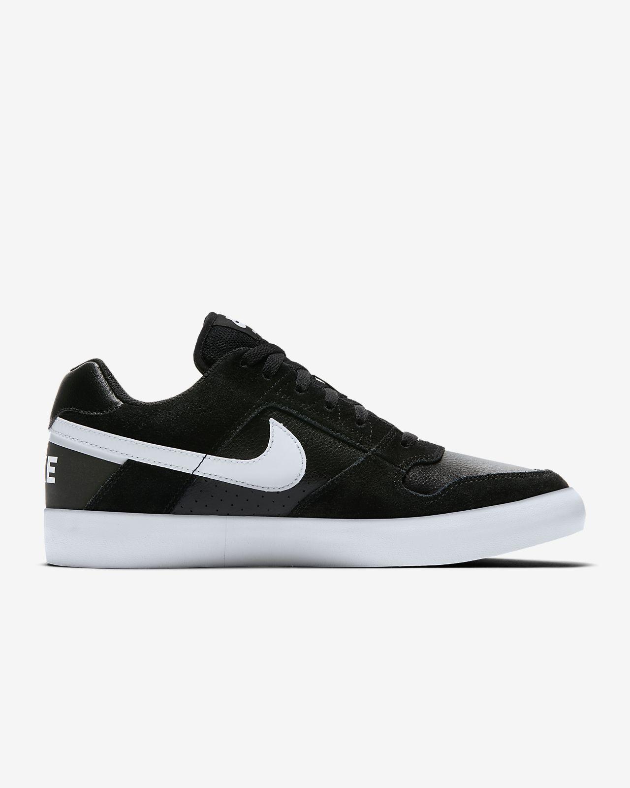 Nike SB Delta Force Vulc Skateboarding Sneakers BlackWhiteAnthracite White