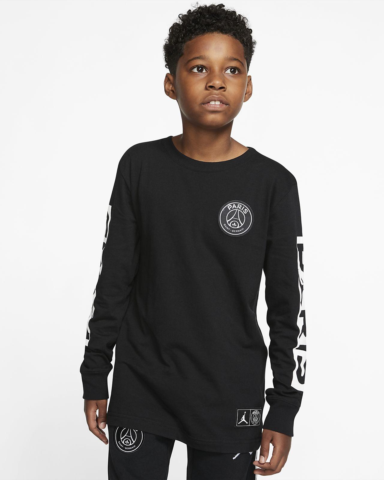 T-shirt z długim rękawem dla dużych dzieci (chłopców) PSG