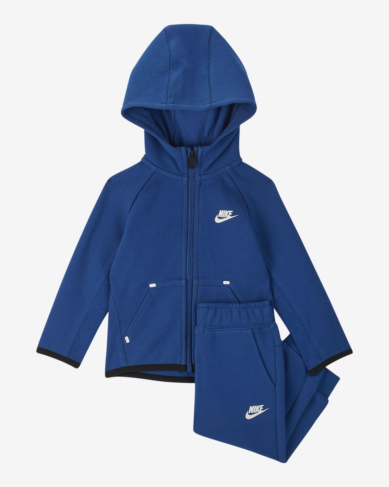 Conjunto de hoodie e calças de jogging Nike Sportswear Tech Fleece para bebé (12-24M)