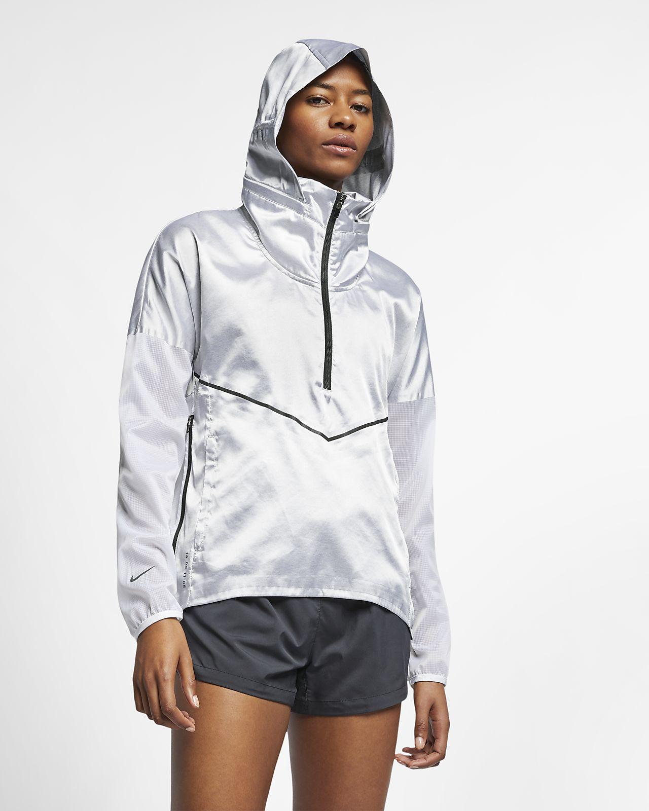 Nike løpejakke med hette til dame