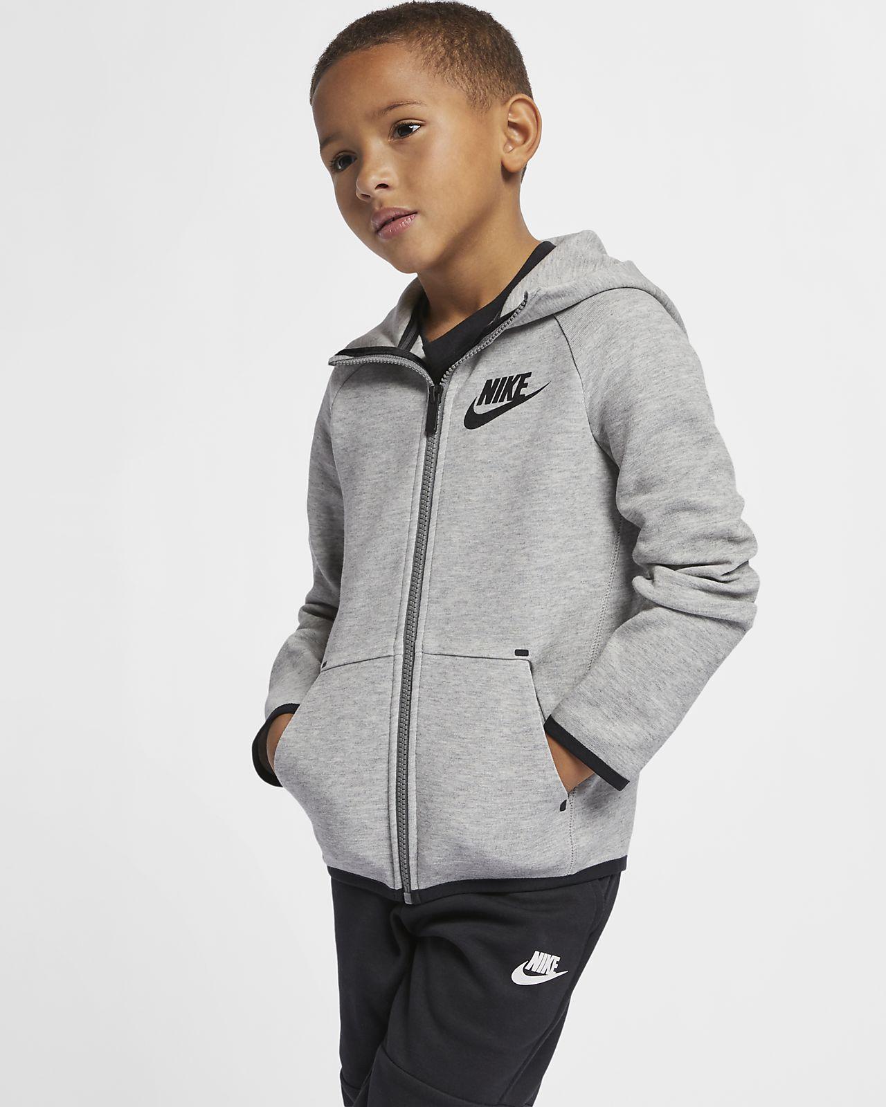 Nike Sportswear Tech Fleece kapucnis pulóver gyerekeknek