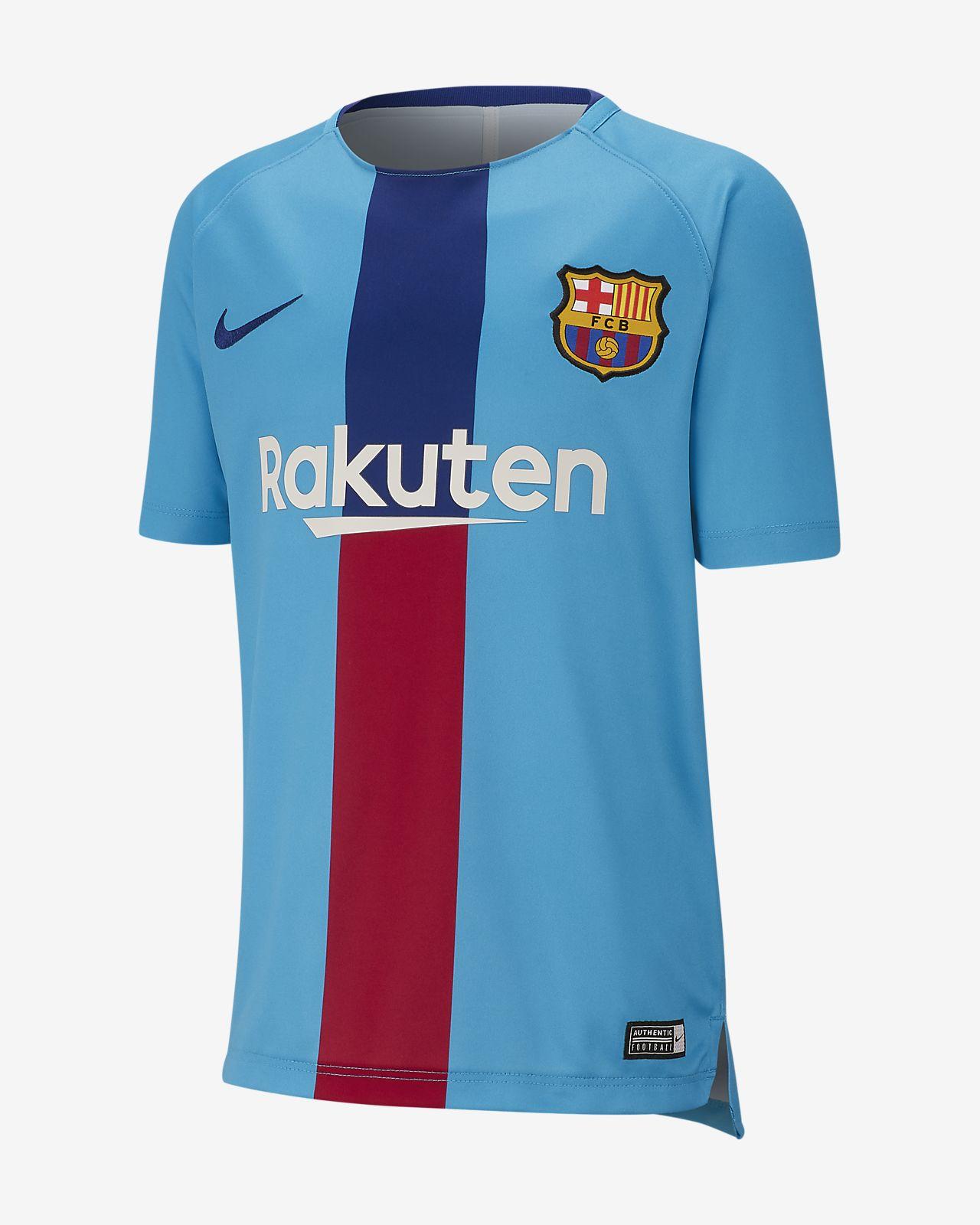 Kortärmad fotbollströja FC Barcelona Dri-FIT Squad för killar