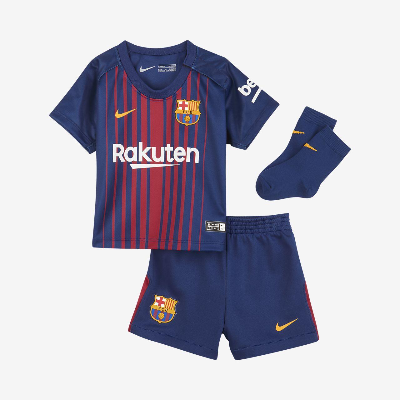 ... 2017/18 FC Barcelona Stadium Home Baby & Toddler Football Kit