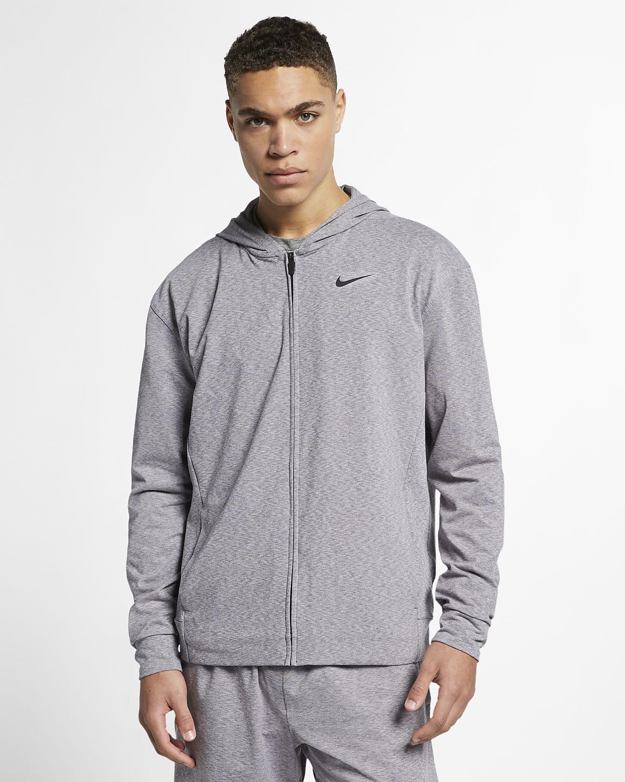 Hoodie de ioga com fecho completo Nike Dri FIT para homem