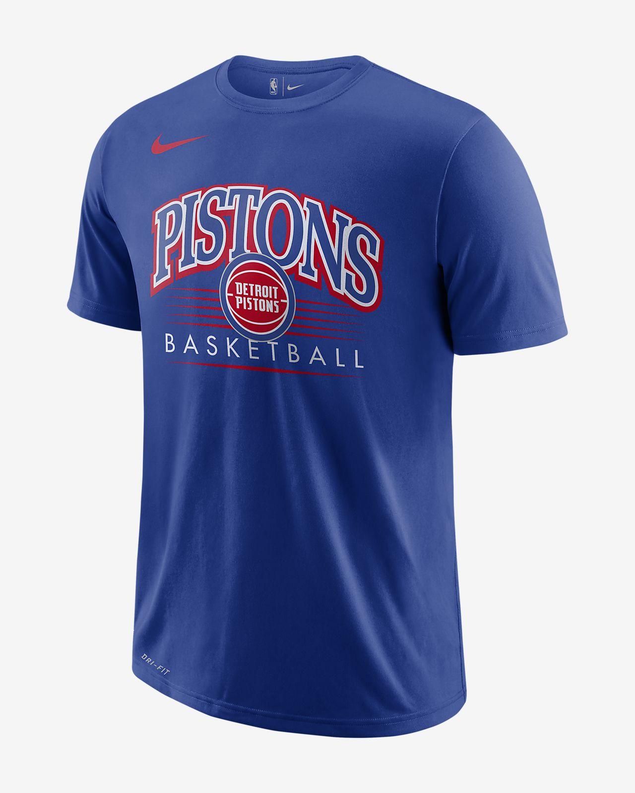T-shirt NBA Detroit Pistons Nike Dri-FIT para homem