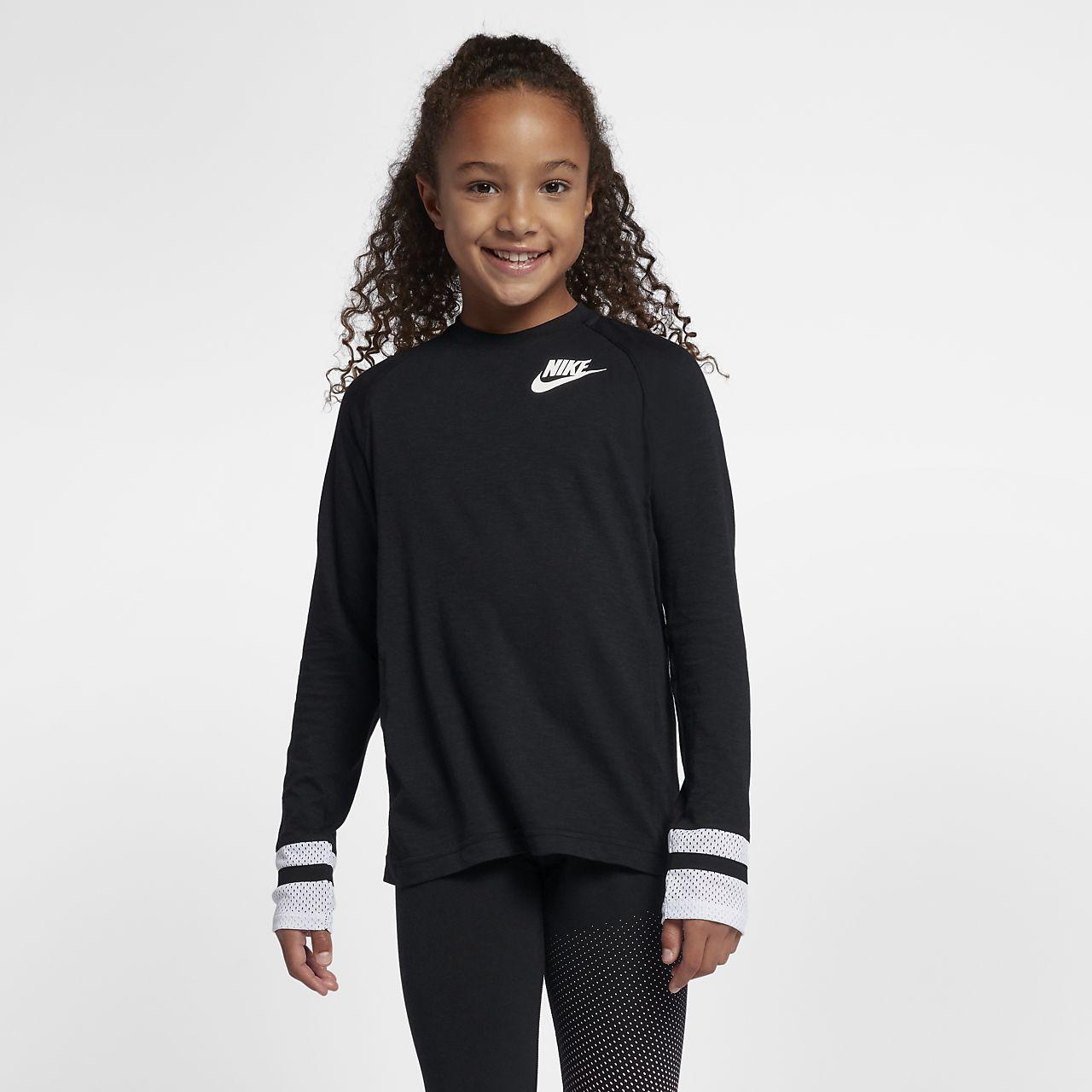 830dc93f Nike Sportswear Older Kids' (Girls') Long-Sleeve Top. Nike.com GB