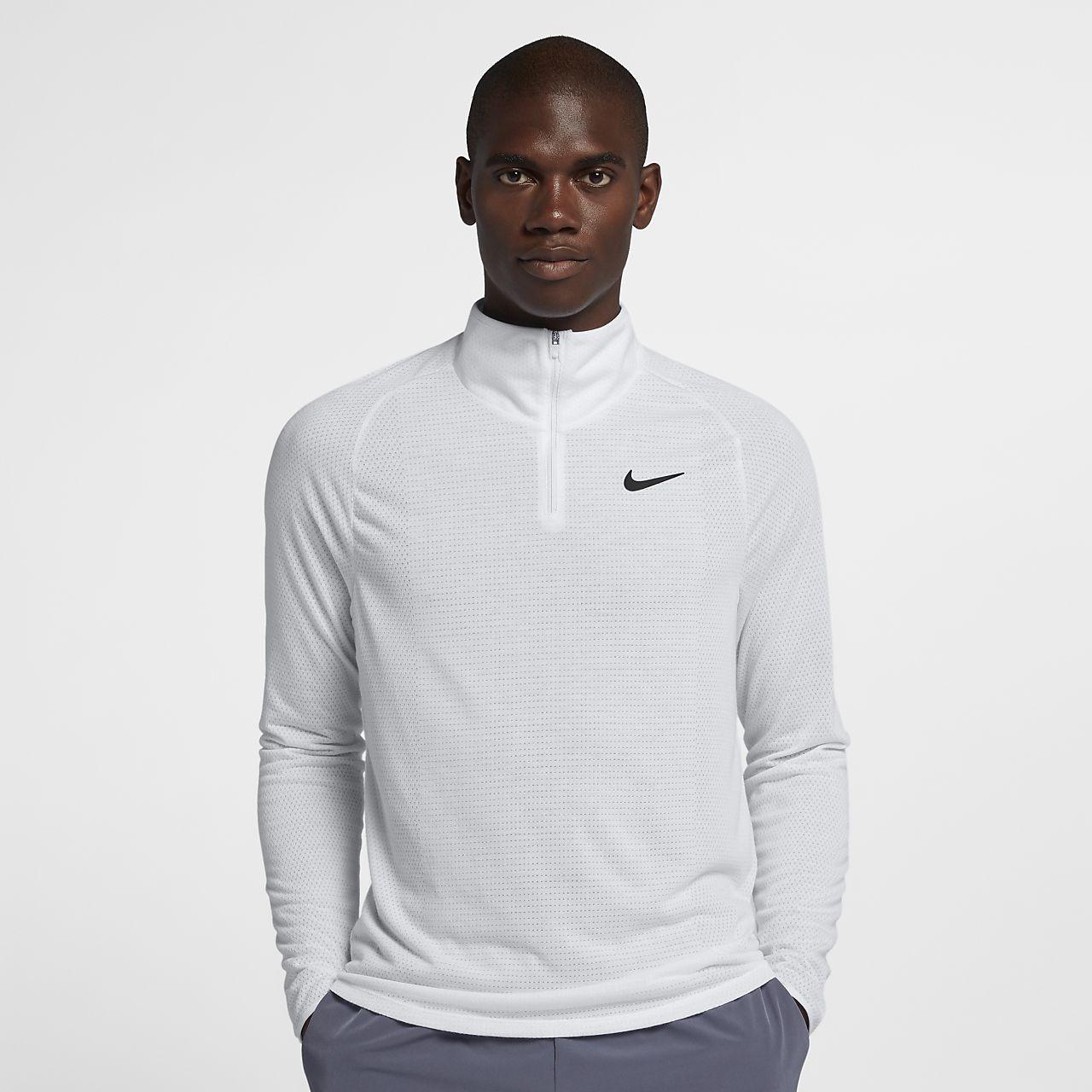 Męska koszulka do tenisa z zamkiem 1/2 NikeCourt Dri-FIT Challenger